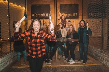 Small 1 Hour Private Axe Throwing Party (up to 16 people)