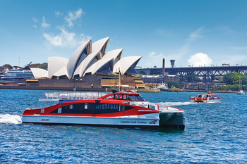 Hop-on, hop-off-Explorer-cruise in de haven van Sydney