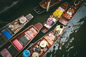 Full Day Biking the Bangkok Weekend Floating Markets