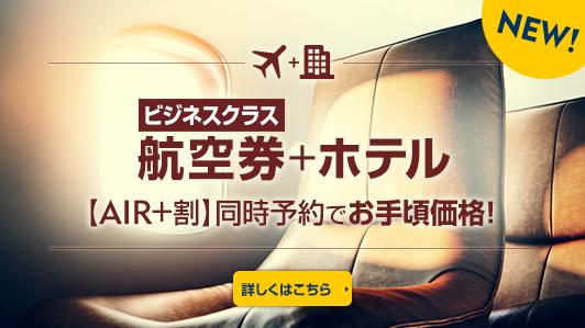ビジネスクラス航空券+ホテル