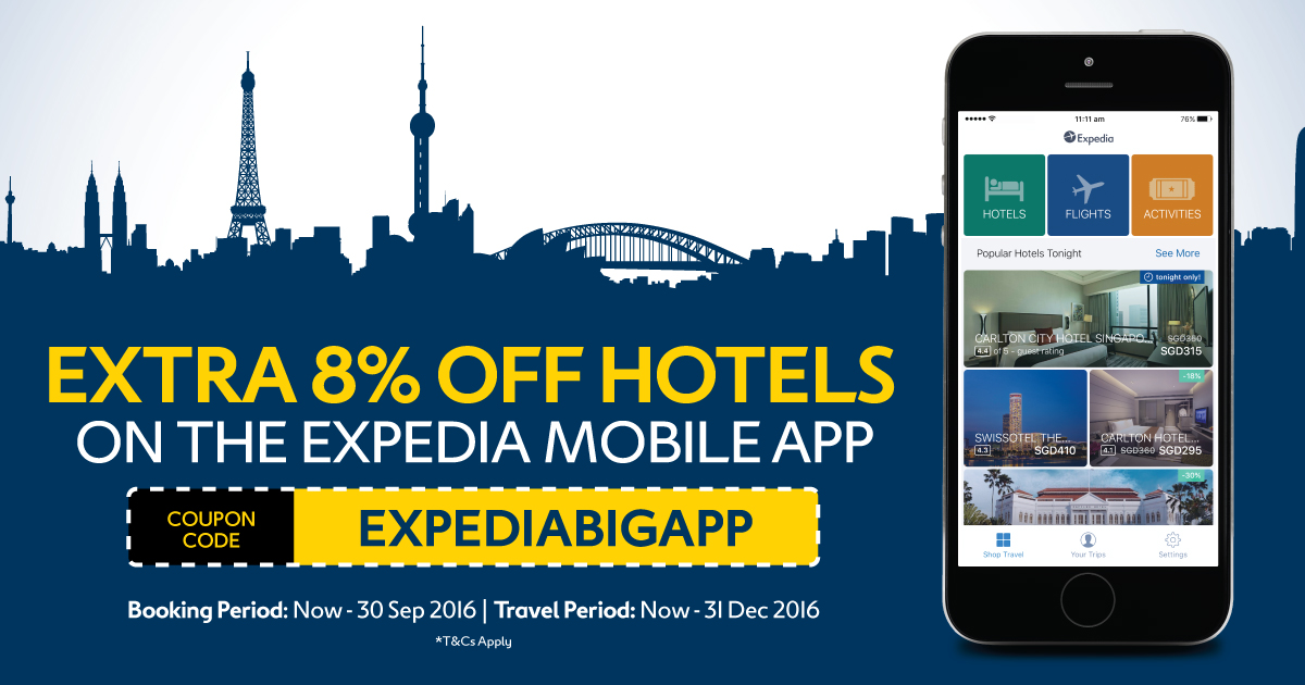 expedia phone app coupon code