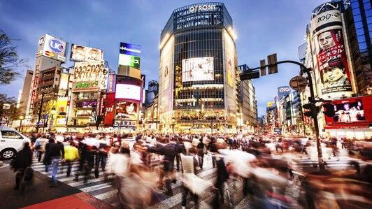Walking in Tokyo Shibuya at night