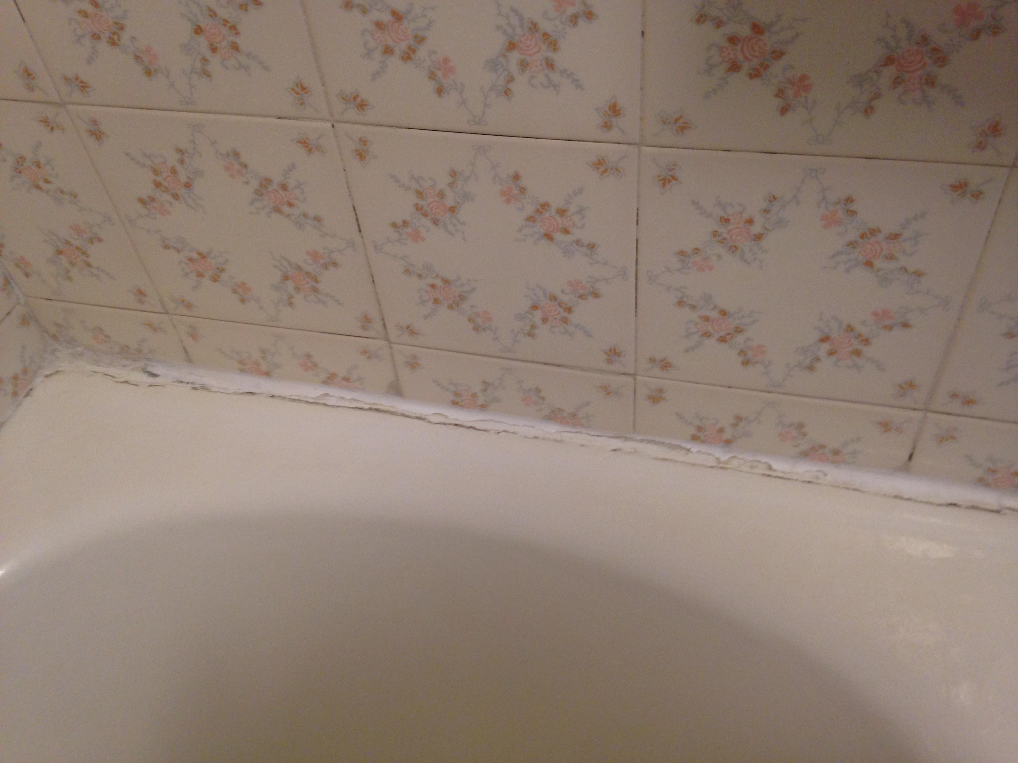 Bathtub needs caulking