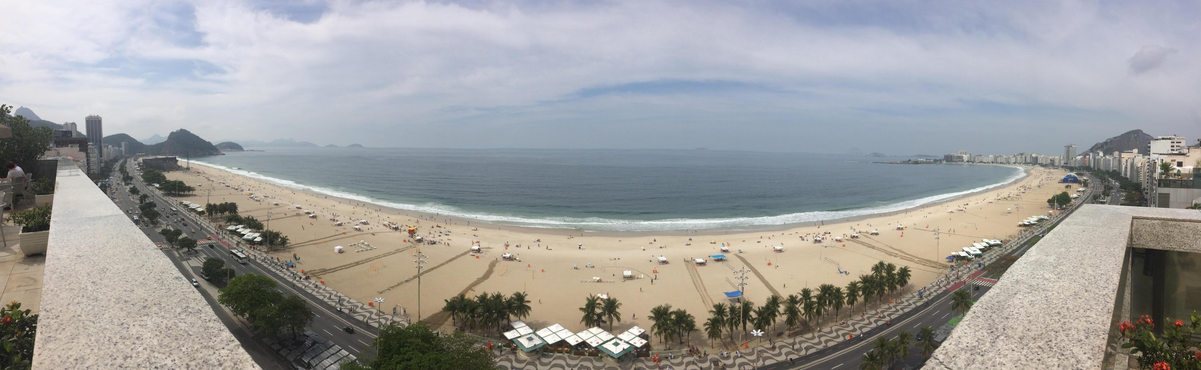 Rooftop Panorama View of Copacabana Beach