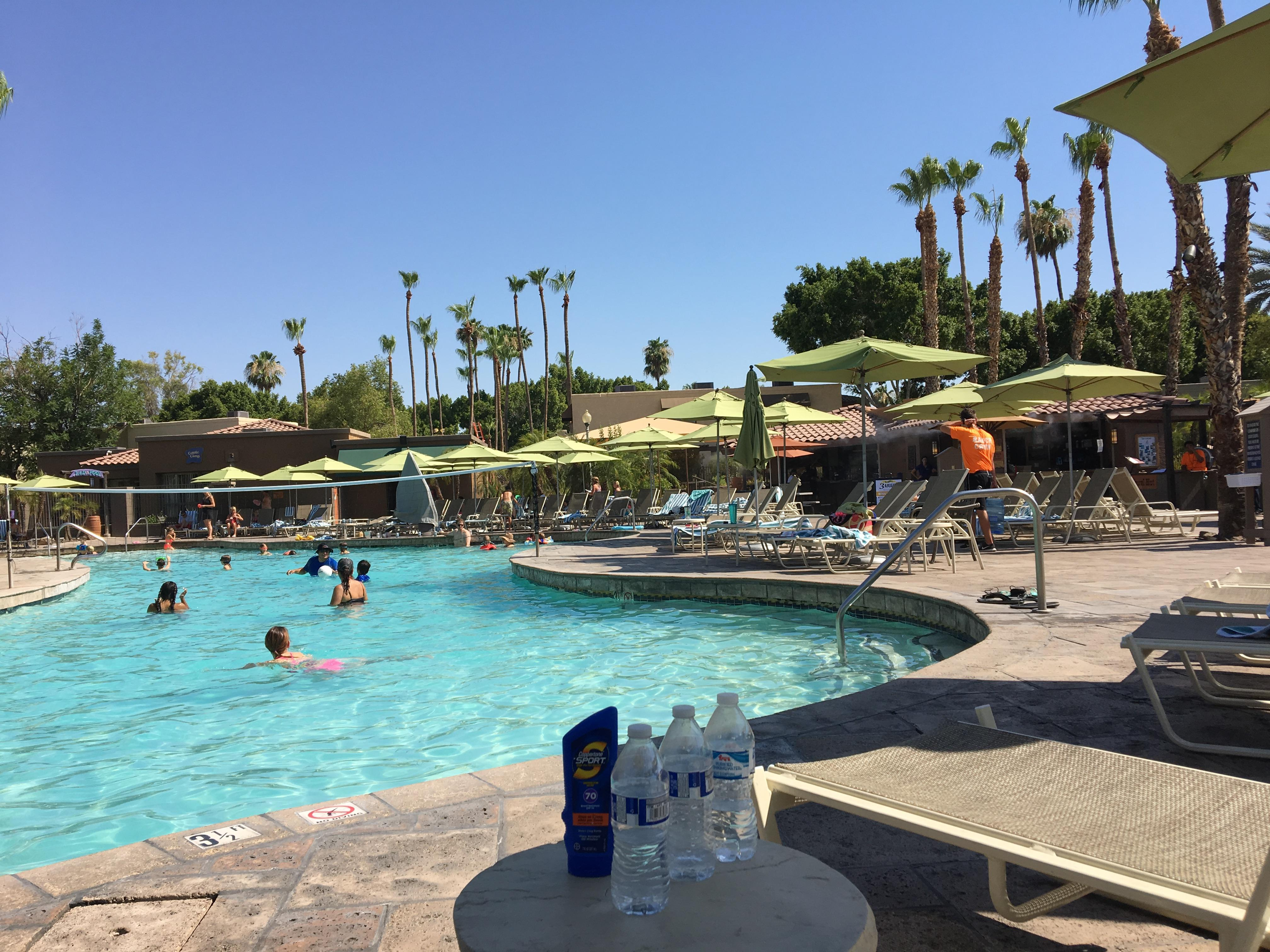 River Ranch Main Pool. Summer fun and perfect way to cool off in the extreme summer heat in Phoenix!