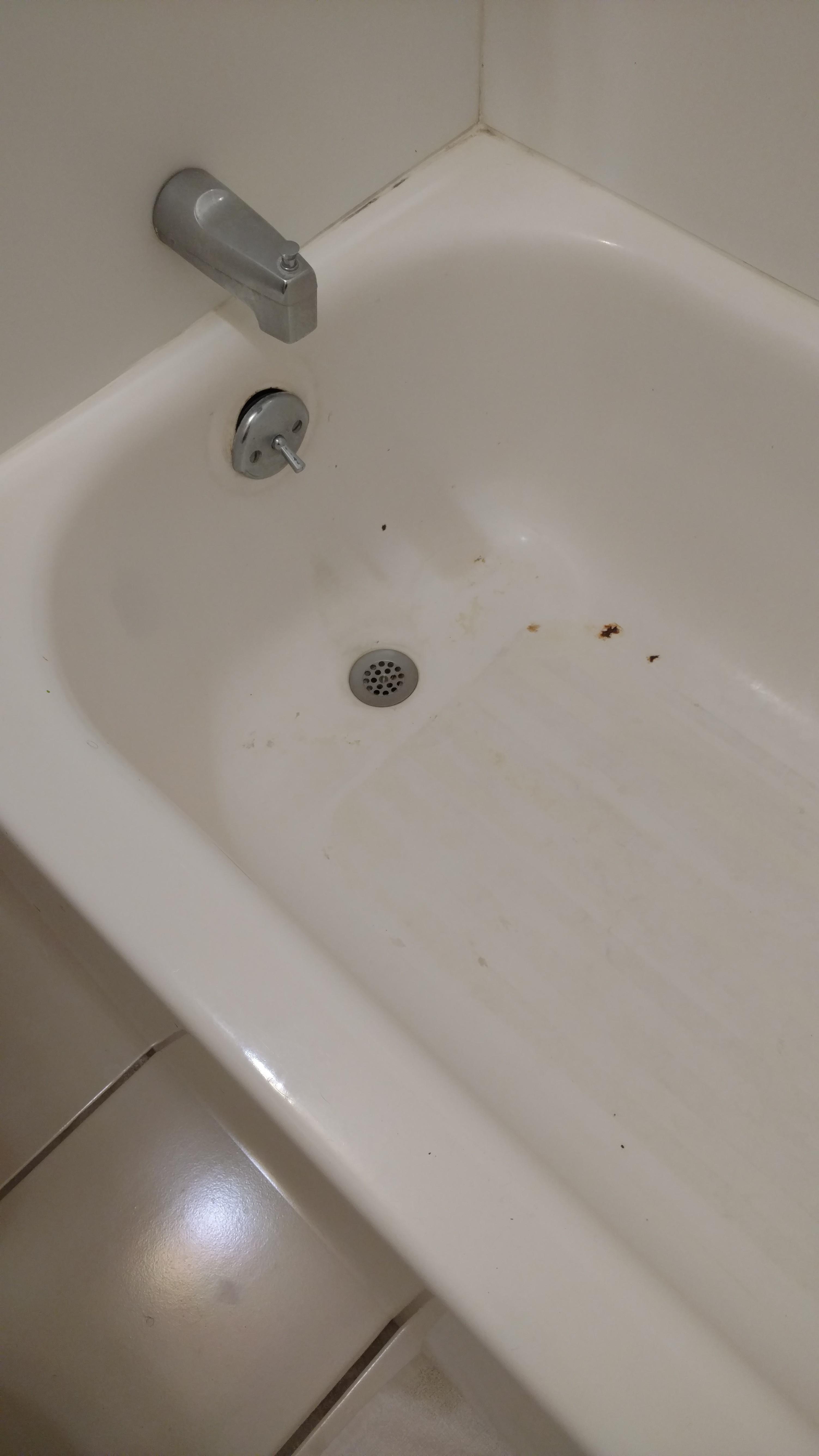 Tub was nasty!