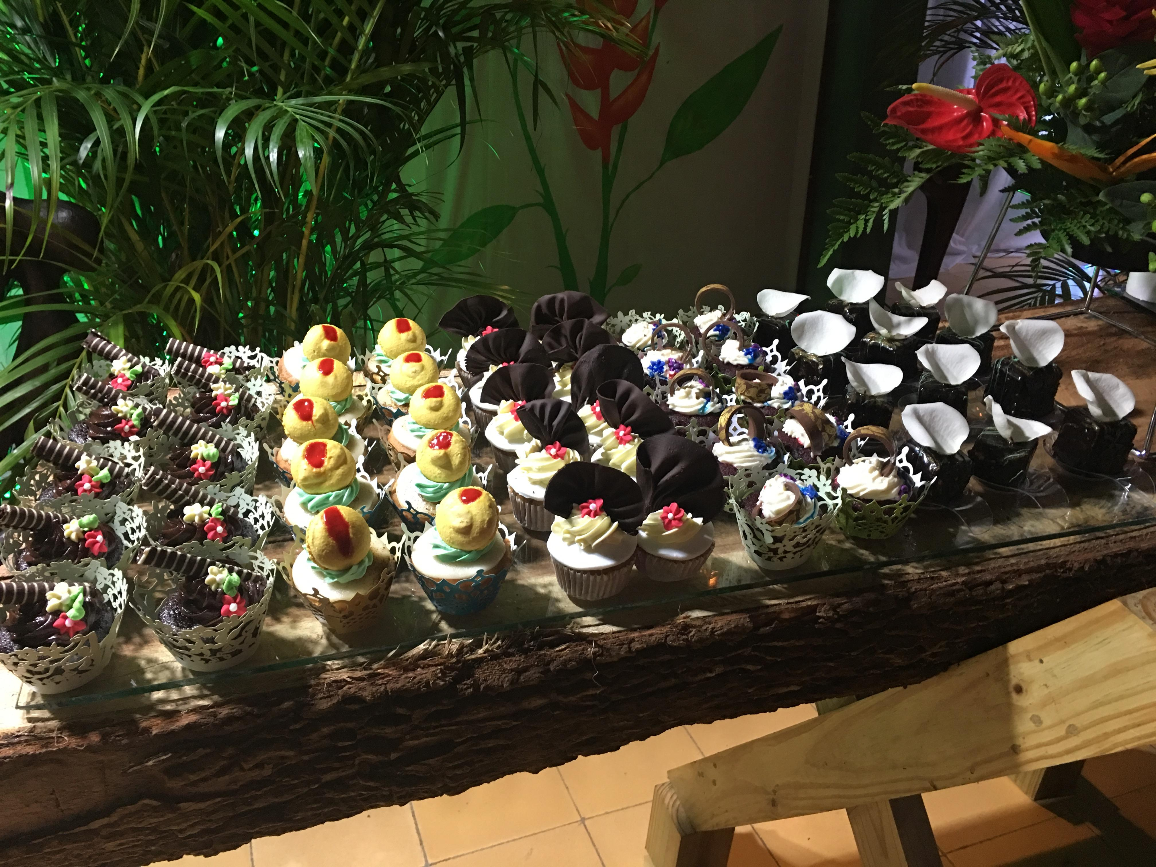 Desserts at the anniversary party.