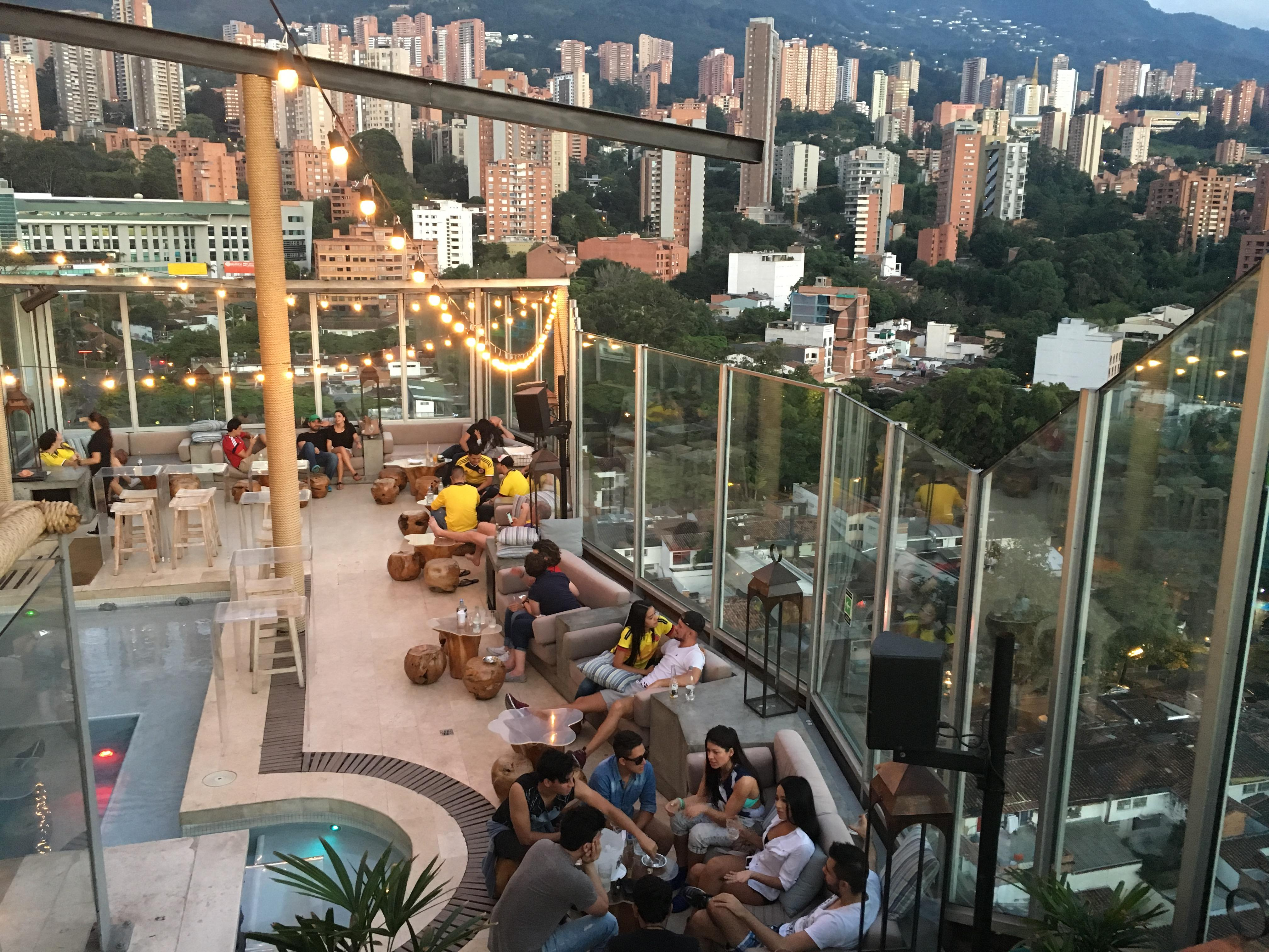 View from Hotel Charlee at Parque Lleras