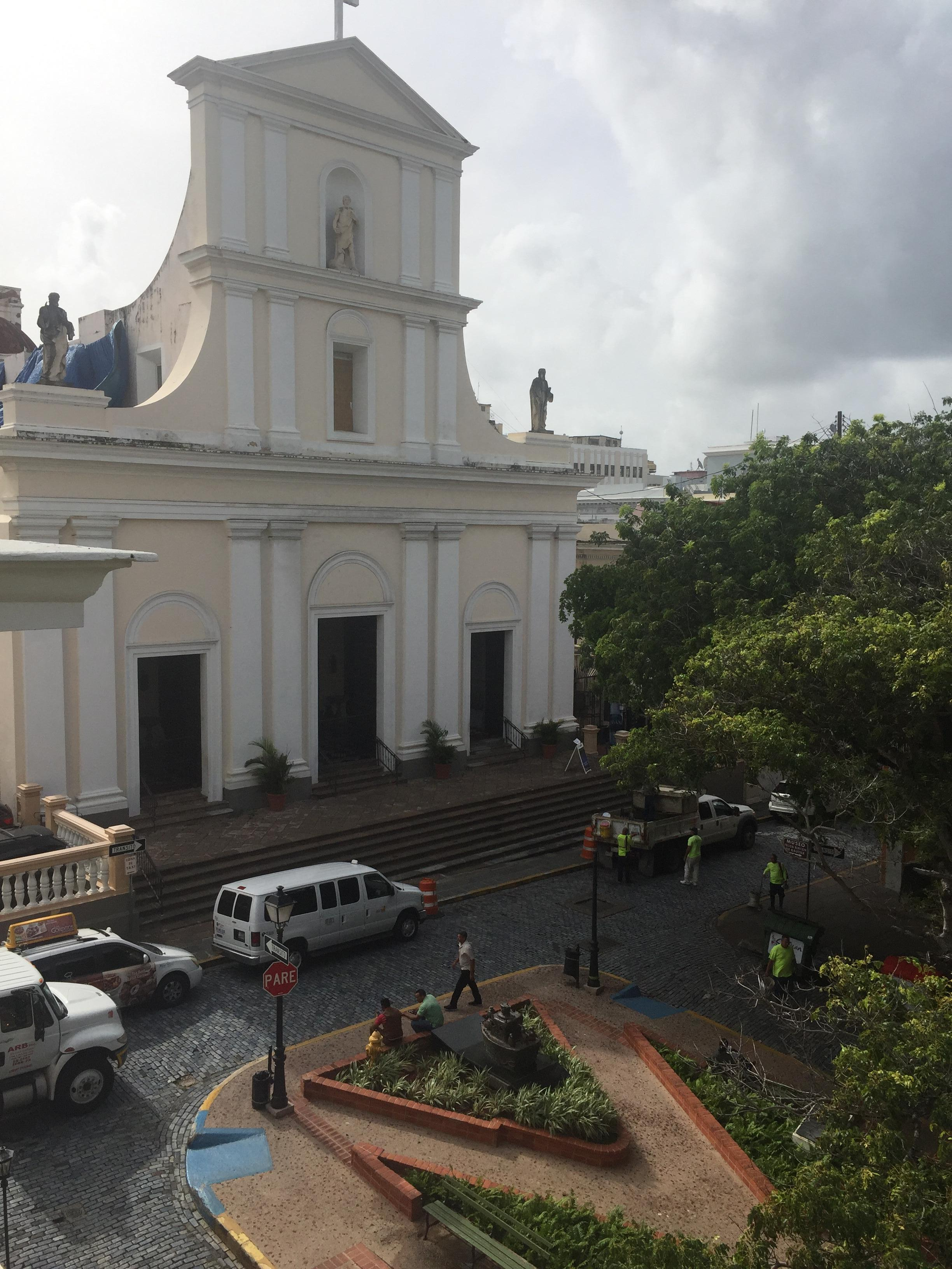 view of the Catedral from the 3rd Floor terrace