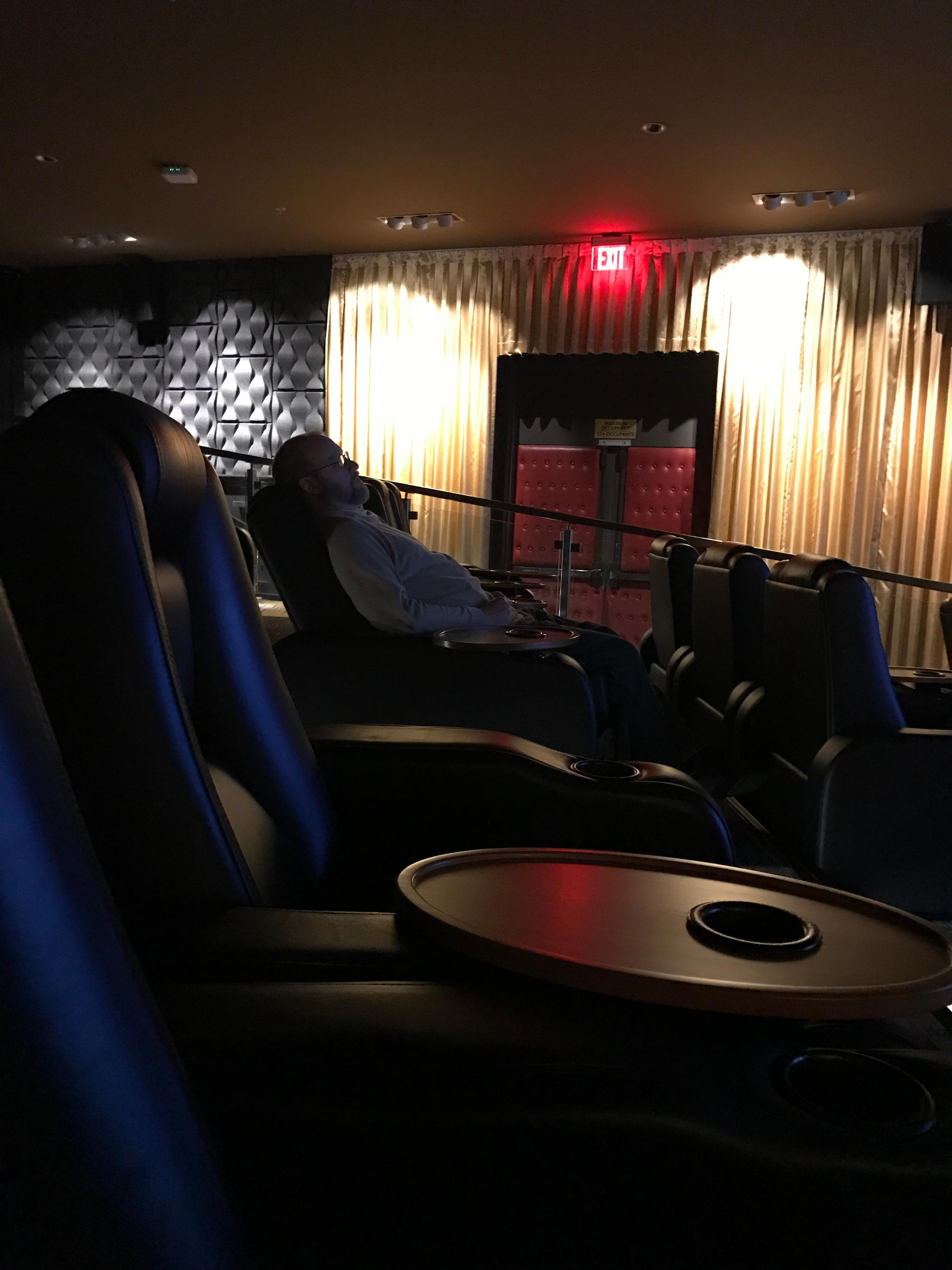 Theatre seating to watch the race