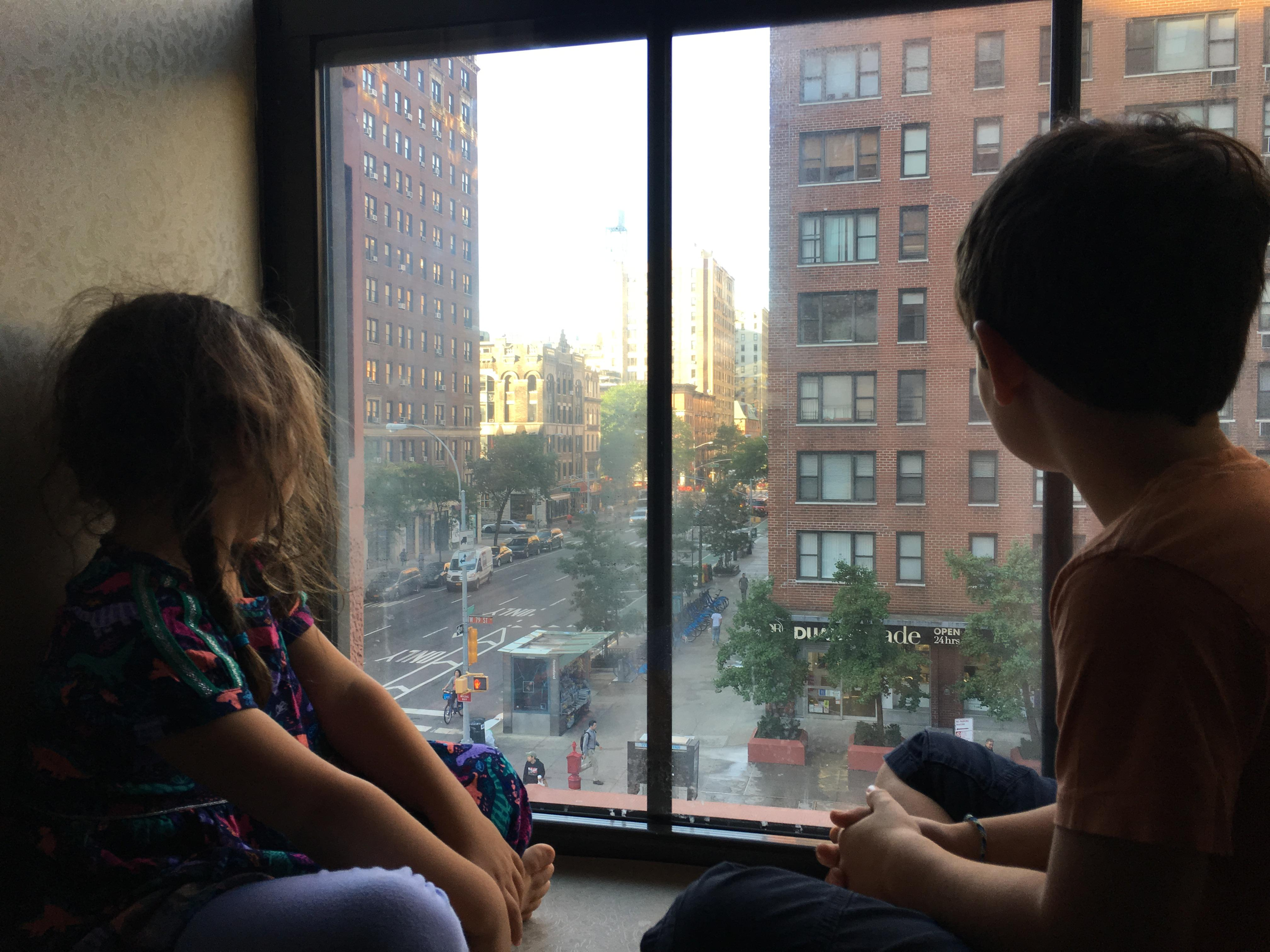 Deep windows are a great for watching the city