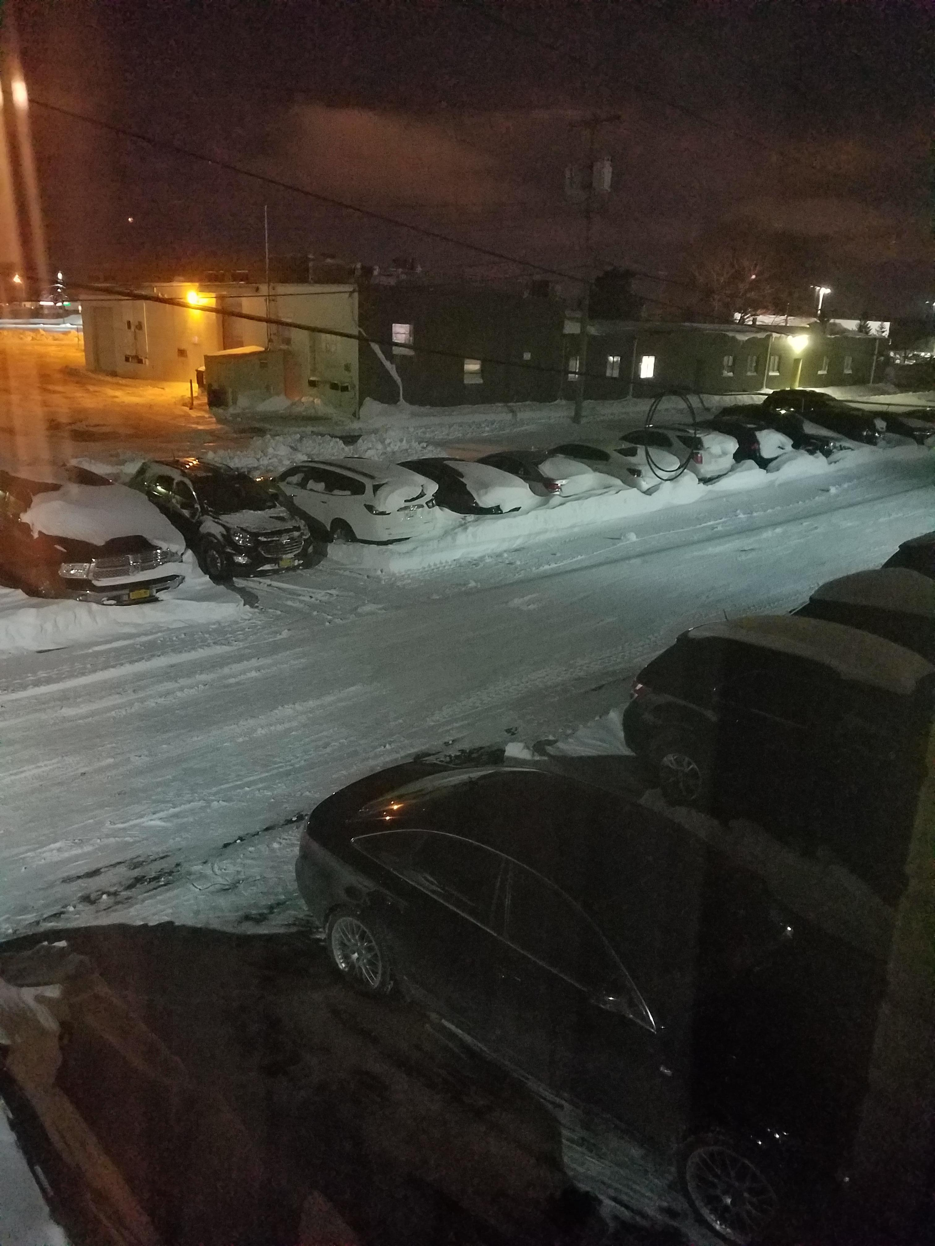 Parking lot view