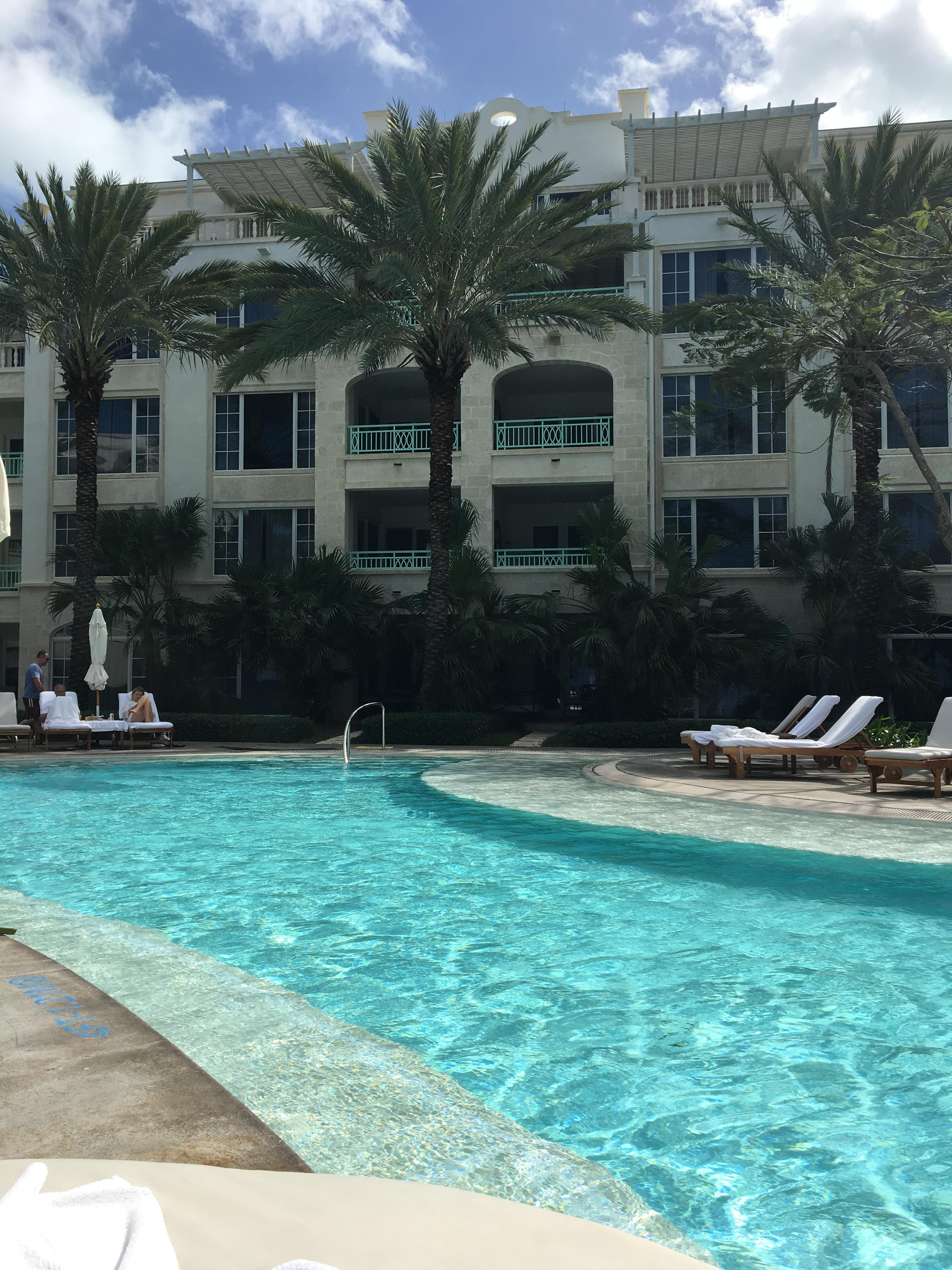 View of pool from one of their pool beds