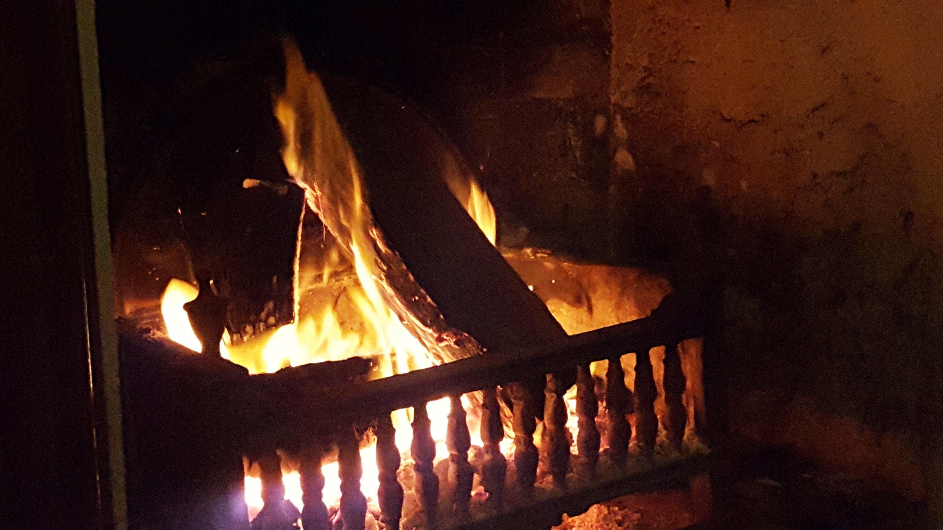 Lovely wood fire