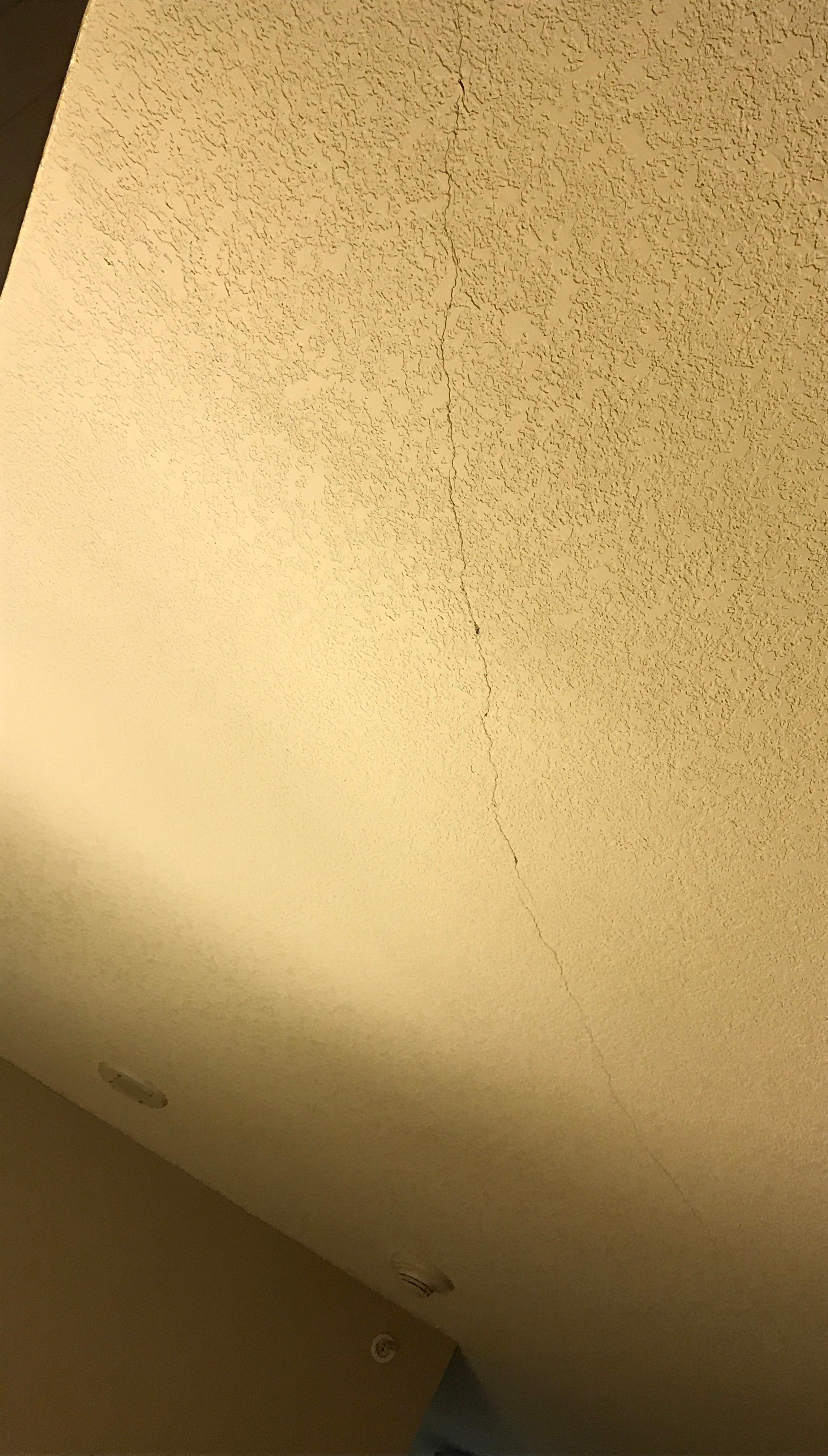 Large crack on ceiling