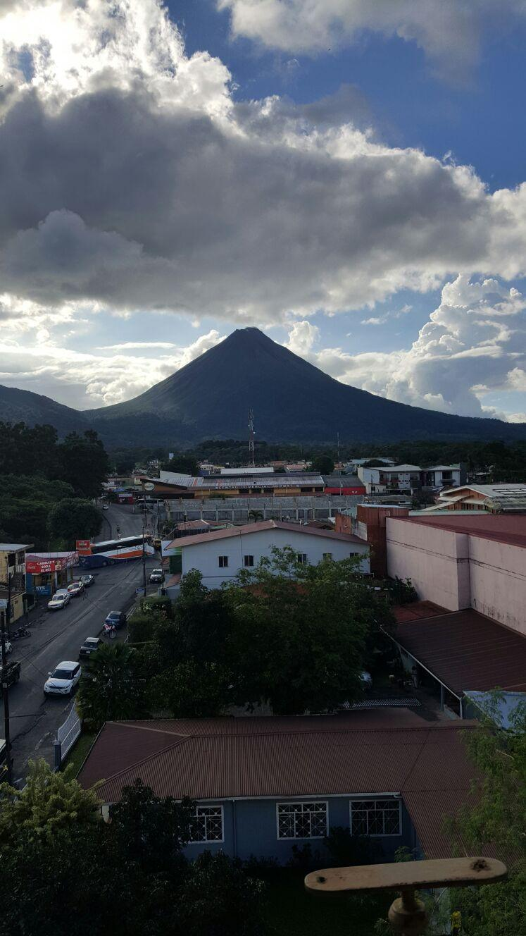 Perfect view of Arenal volcano from balcony.