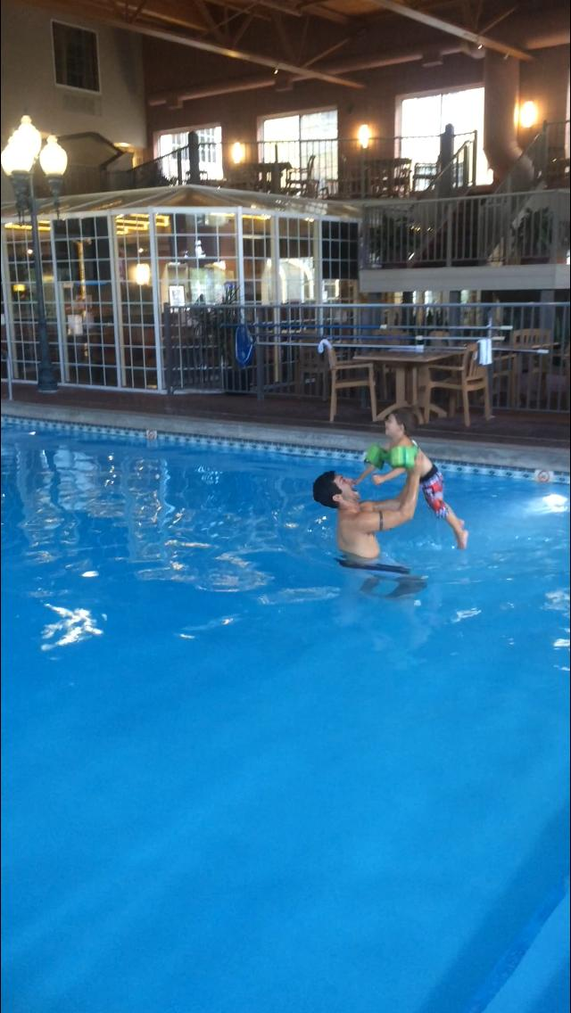 Quick swim before dinner
