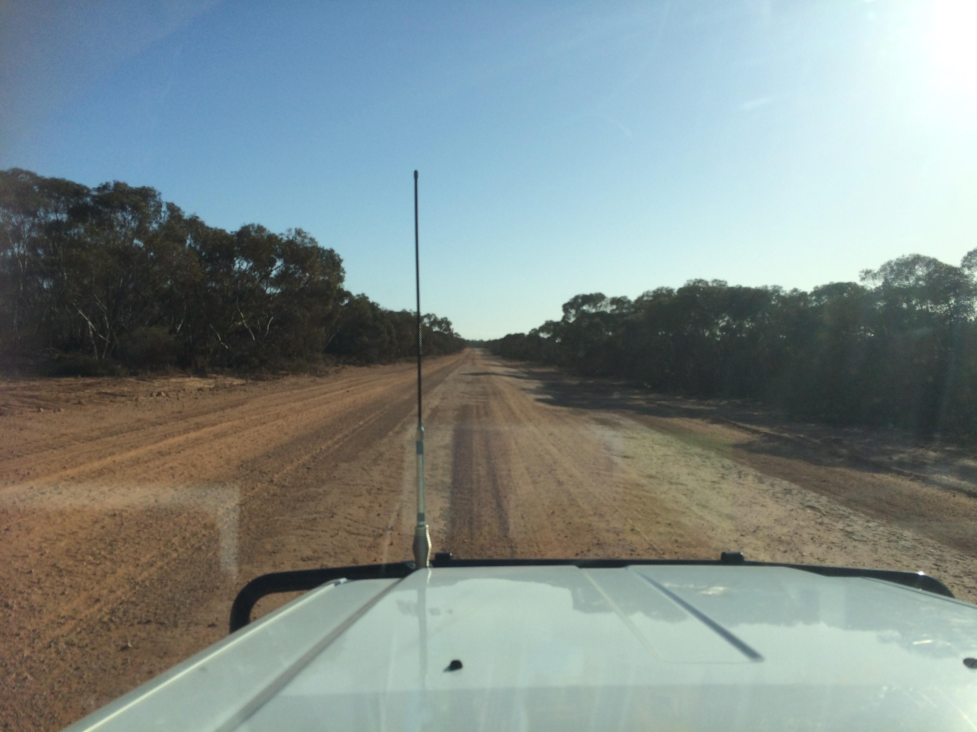 110kms of dirt road to Mungo NP