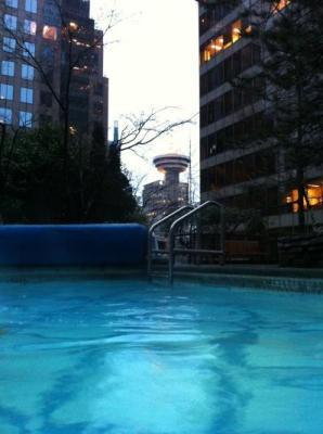 Great view from the outdoor pool
