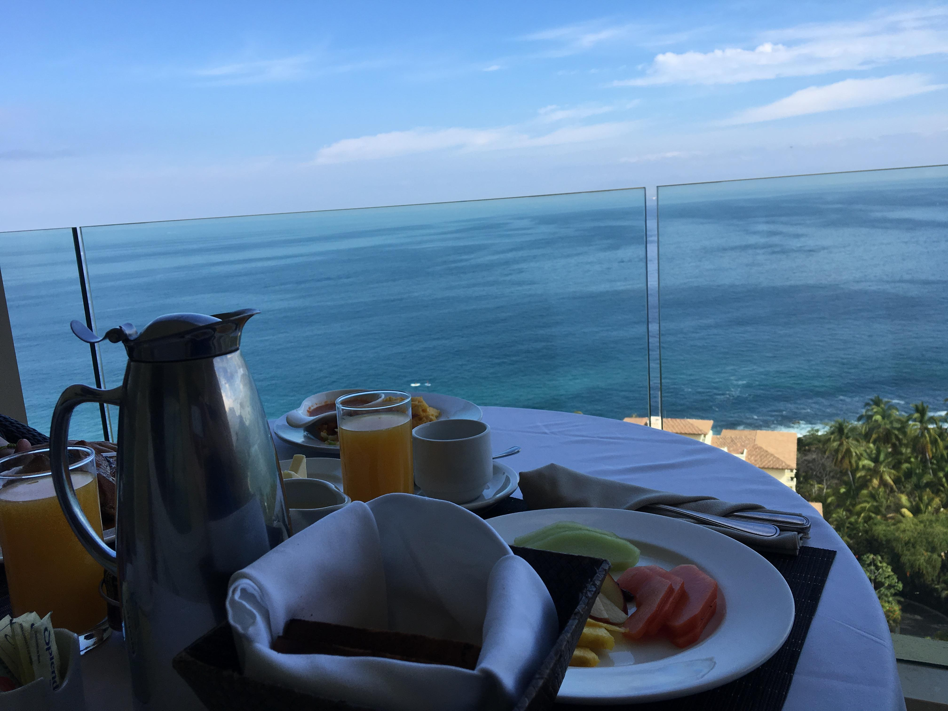 Room service on our balcony