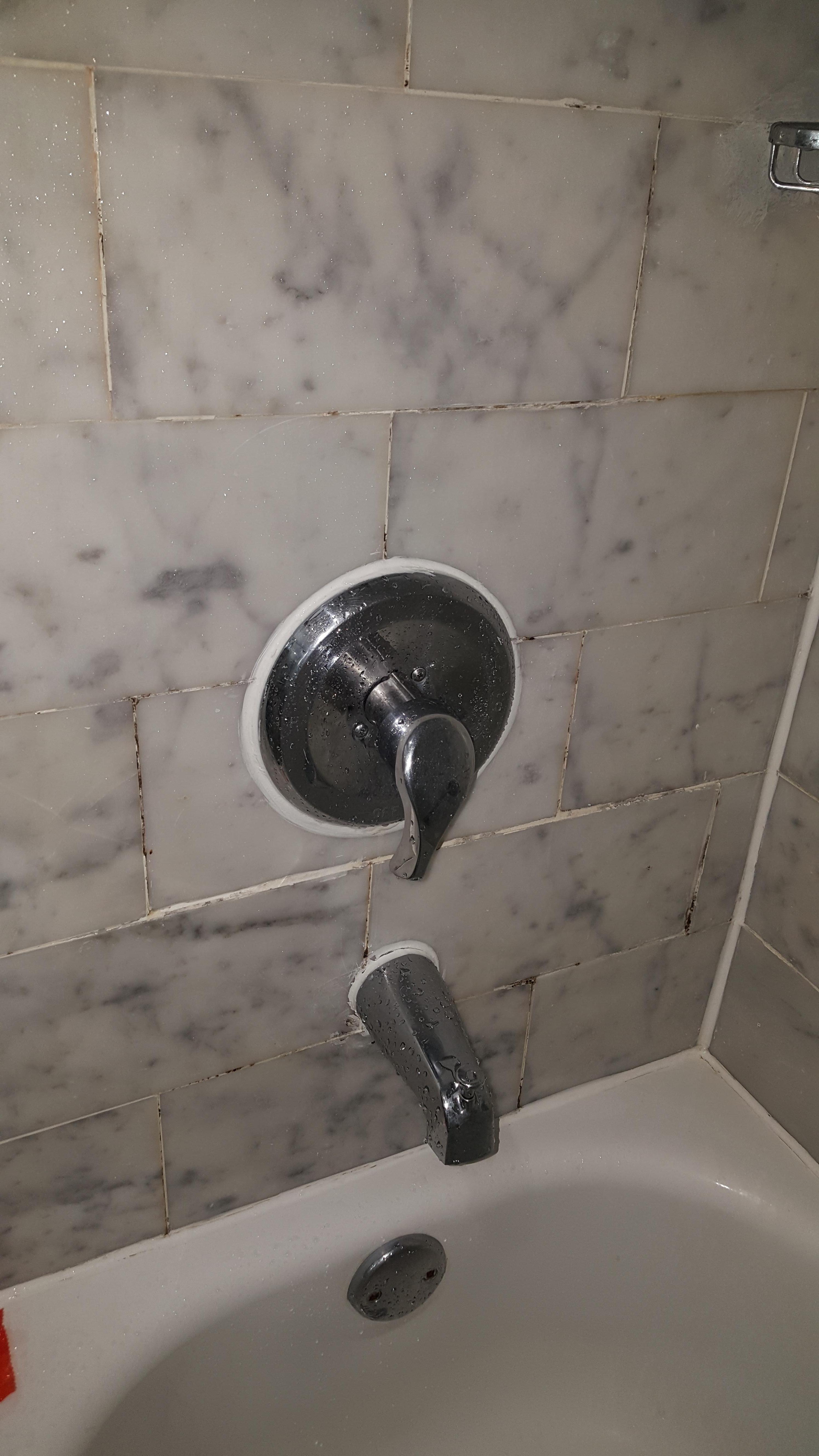 dirty shower tile