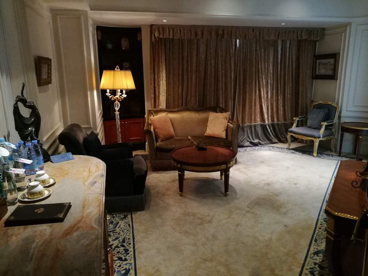 Sitting room. In suite