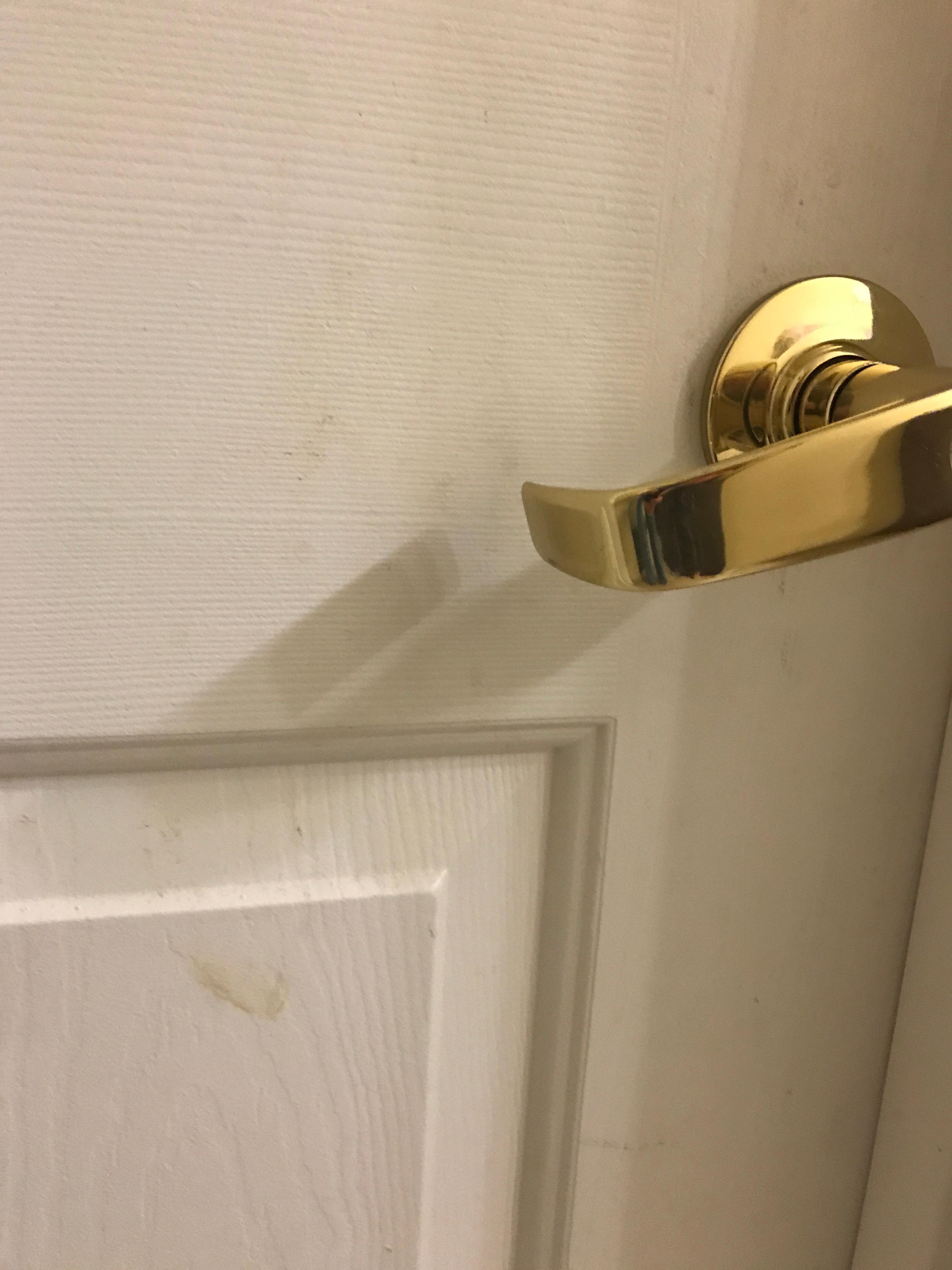 Dirty door surface