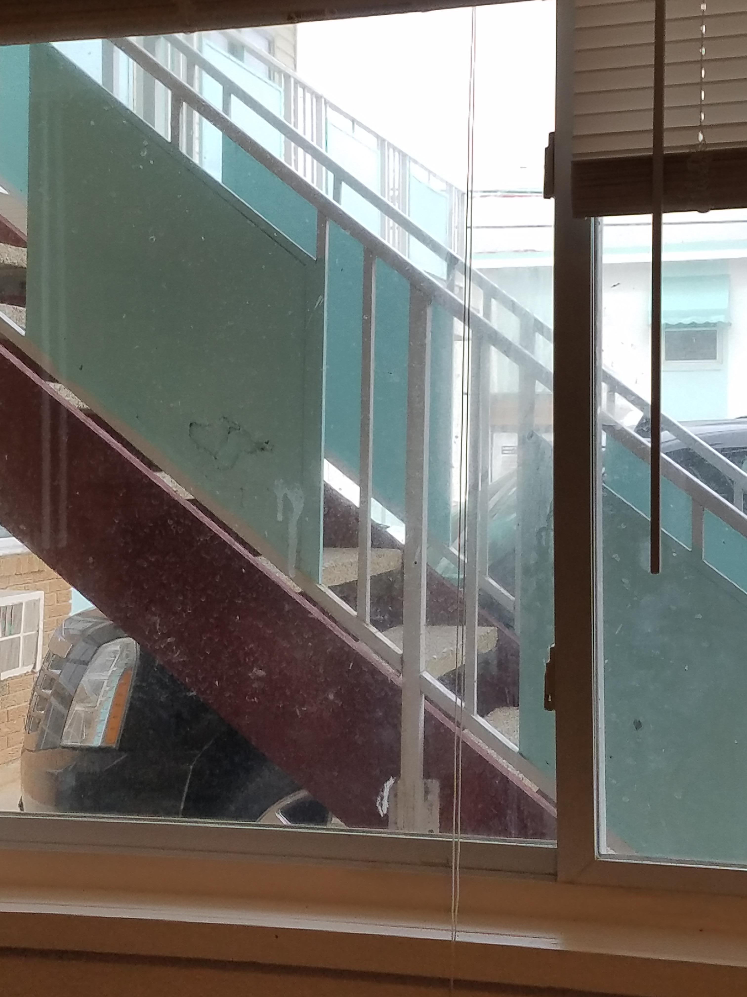 Dirty windows.