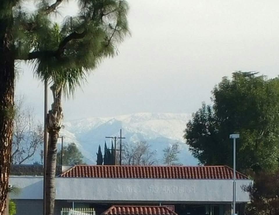 View from shopping center at the corner