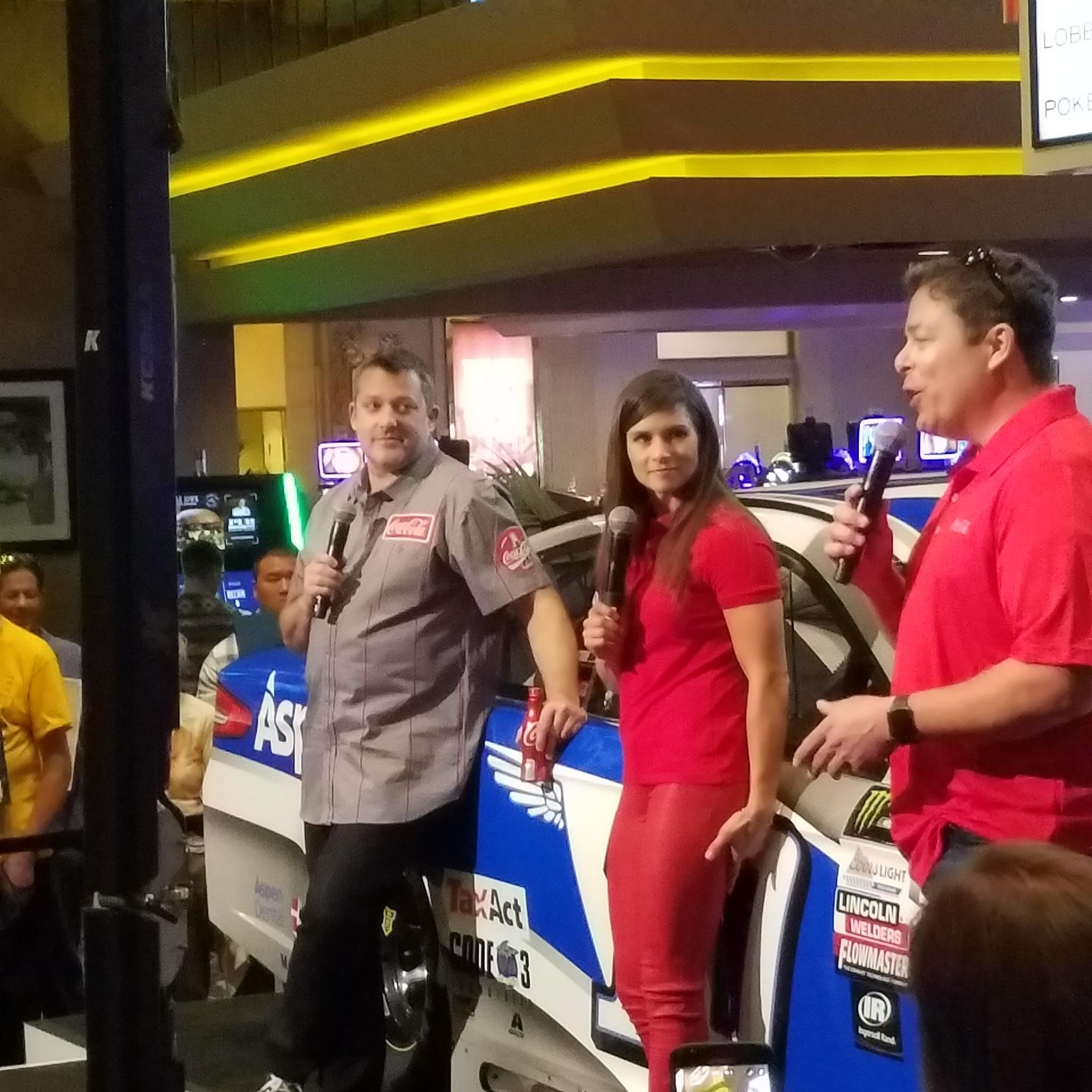 Danica Patrick and Tony Stewart on race weekend.