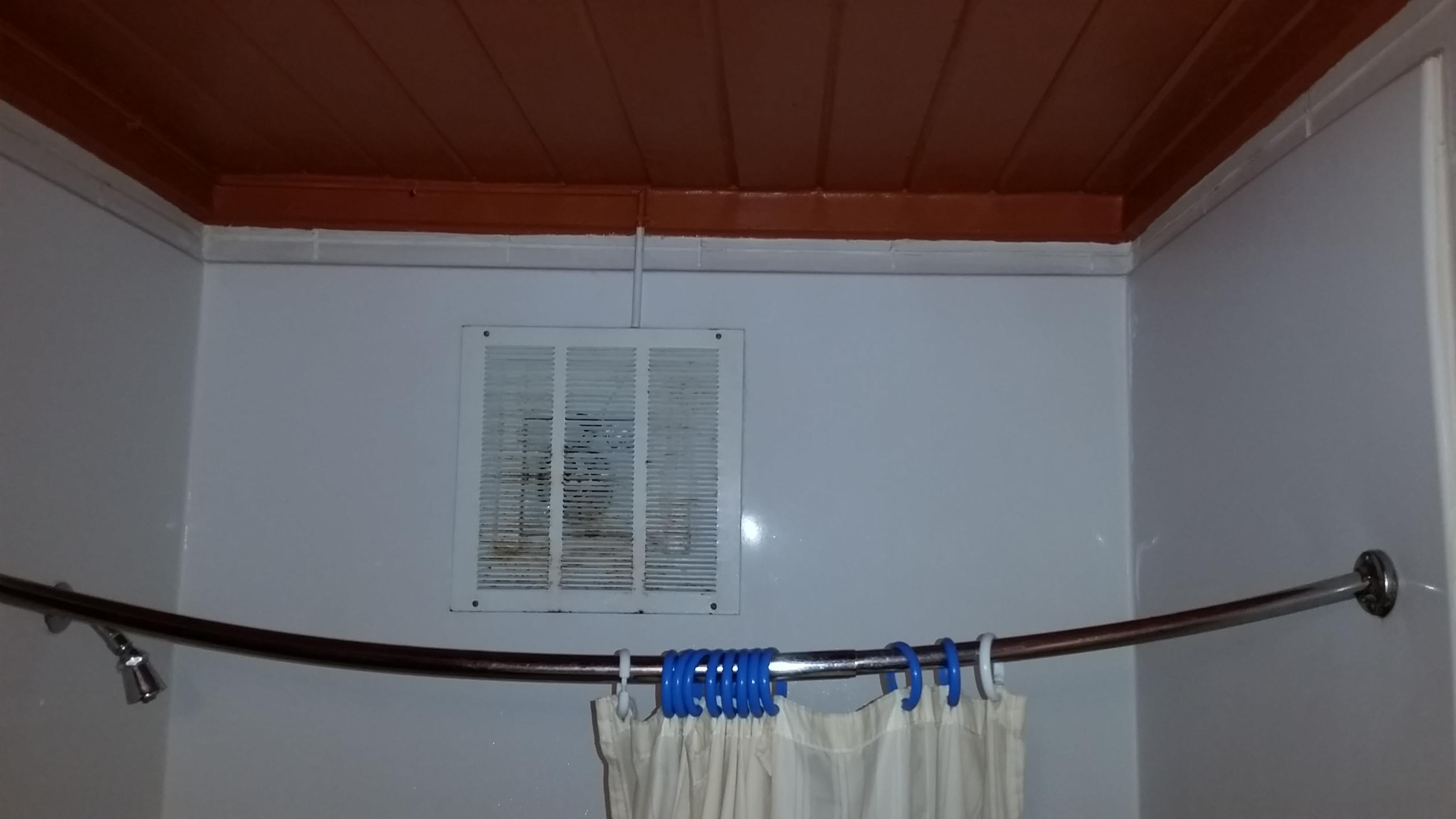 Sad shower curtain.