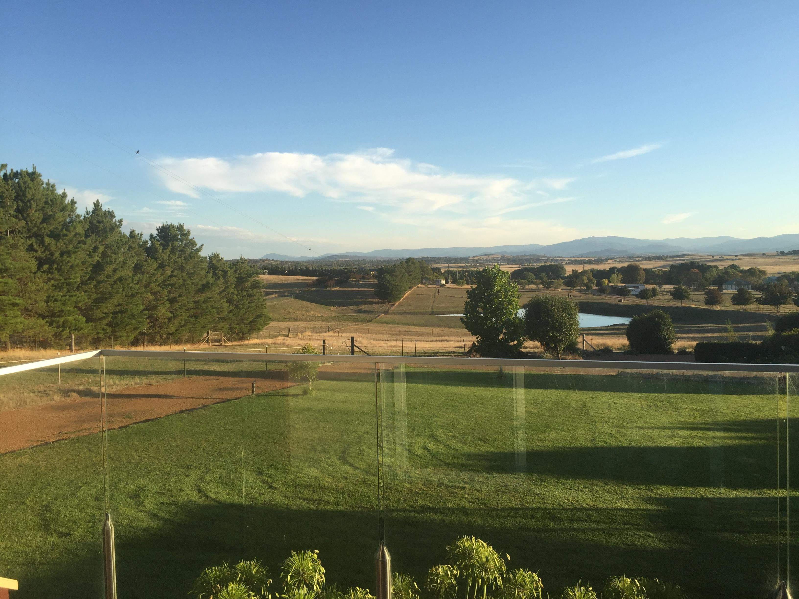 View to north Canberra from front balcony