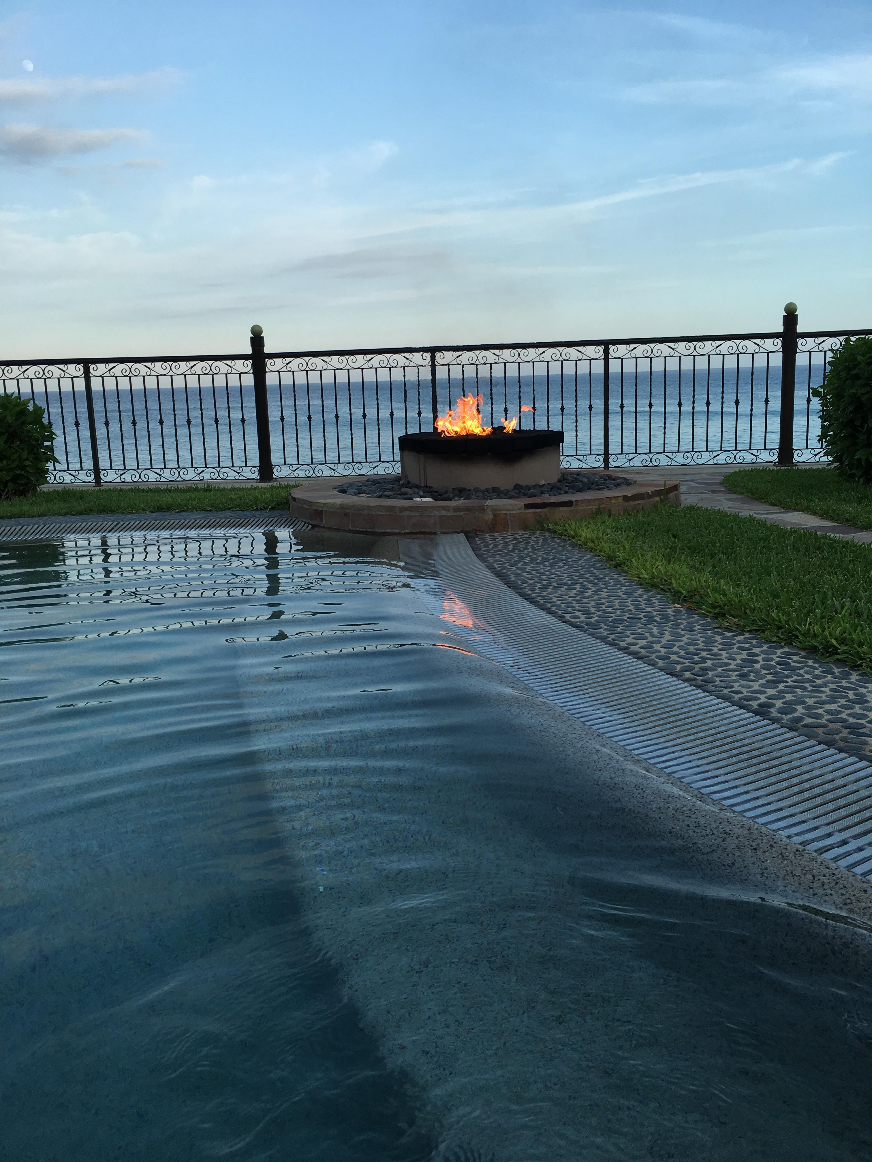 View from the main hot tub