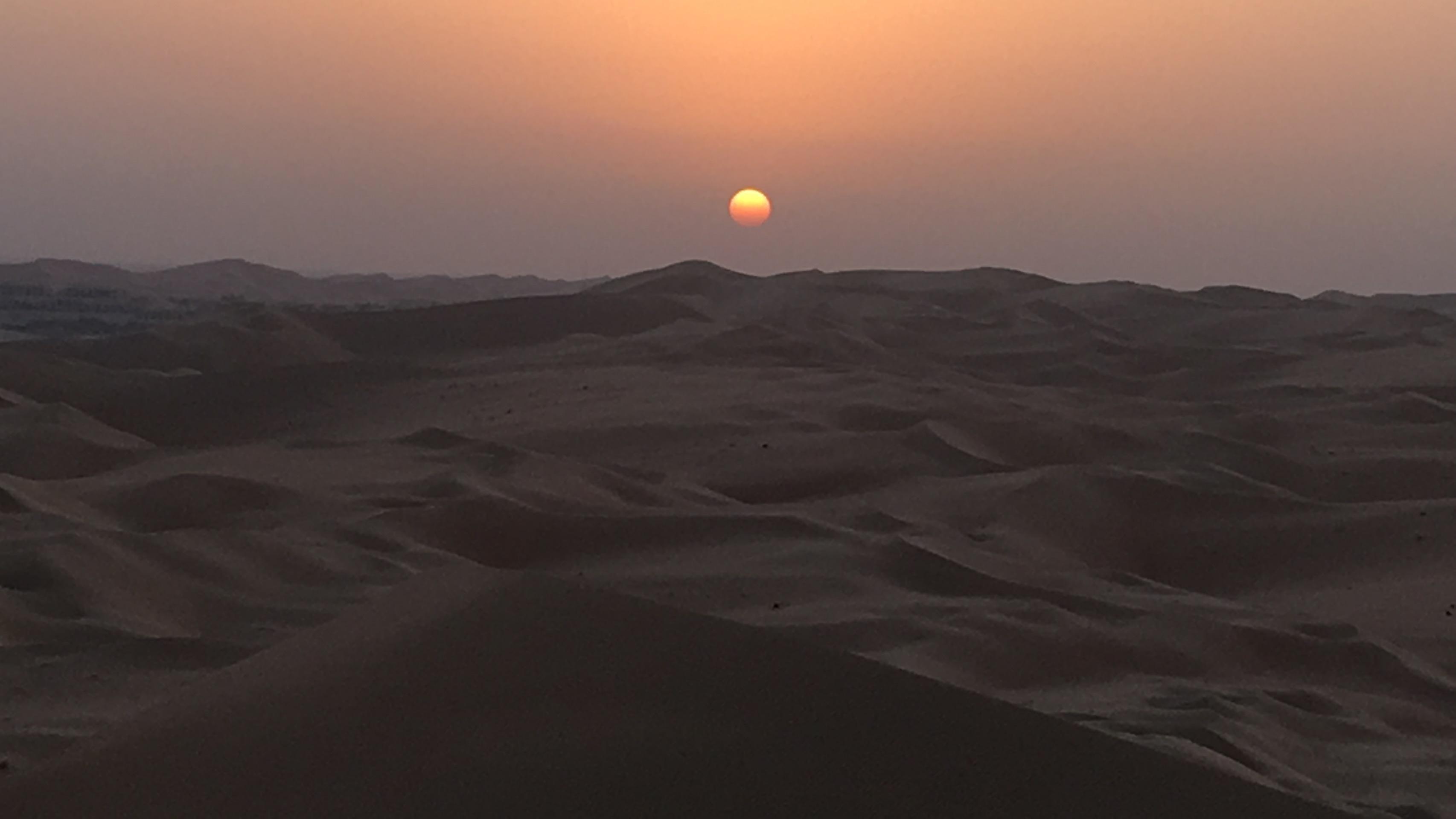 Experience desert sunrise
