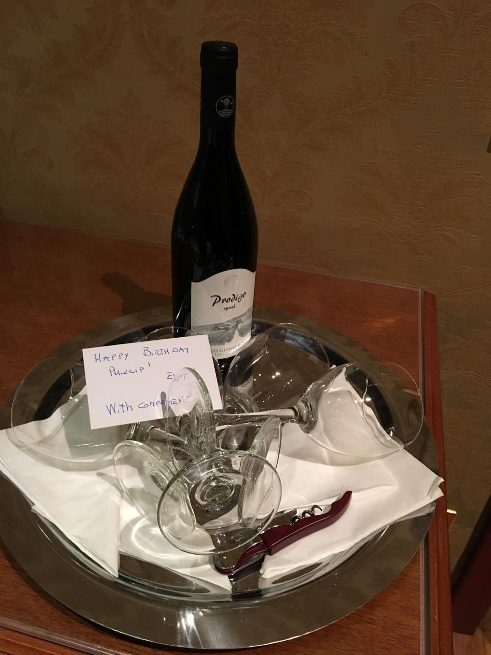 Birthday gift from concierge!