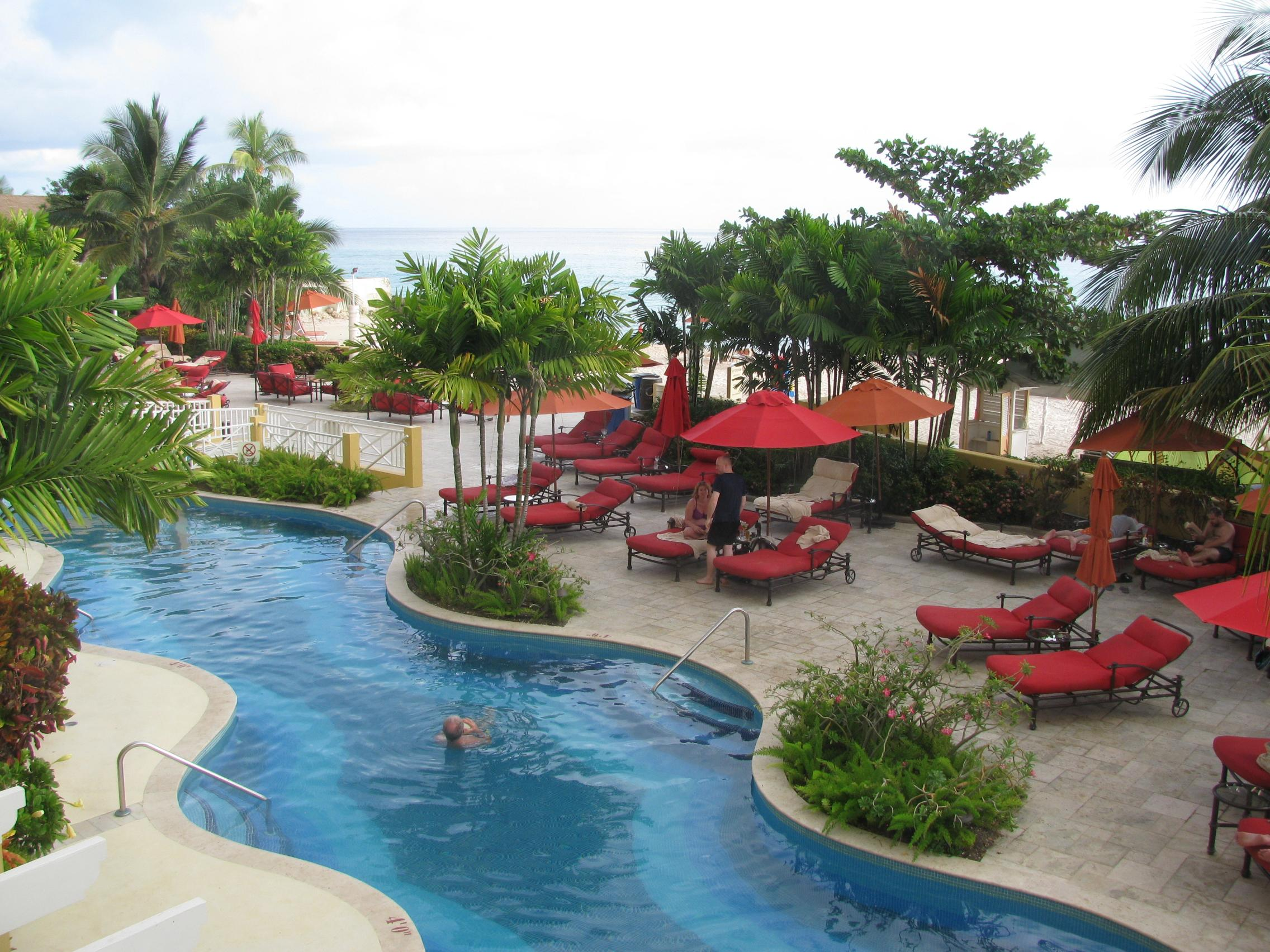 Pool area, view from suite