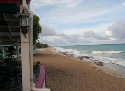 view from Sand Castle on the Beach Hotel, St. Croix