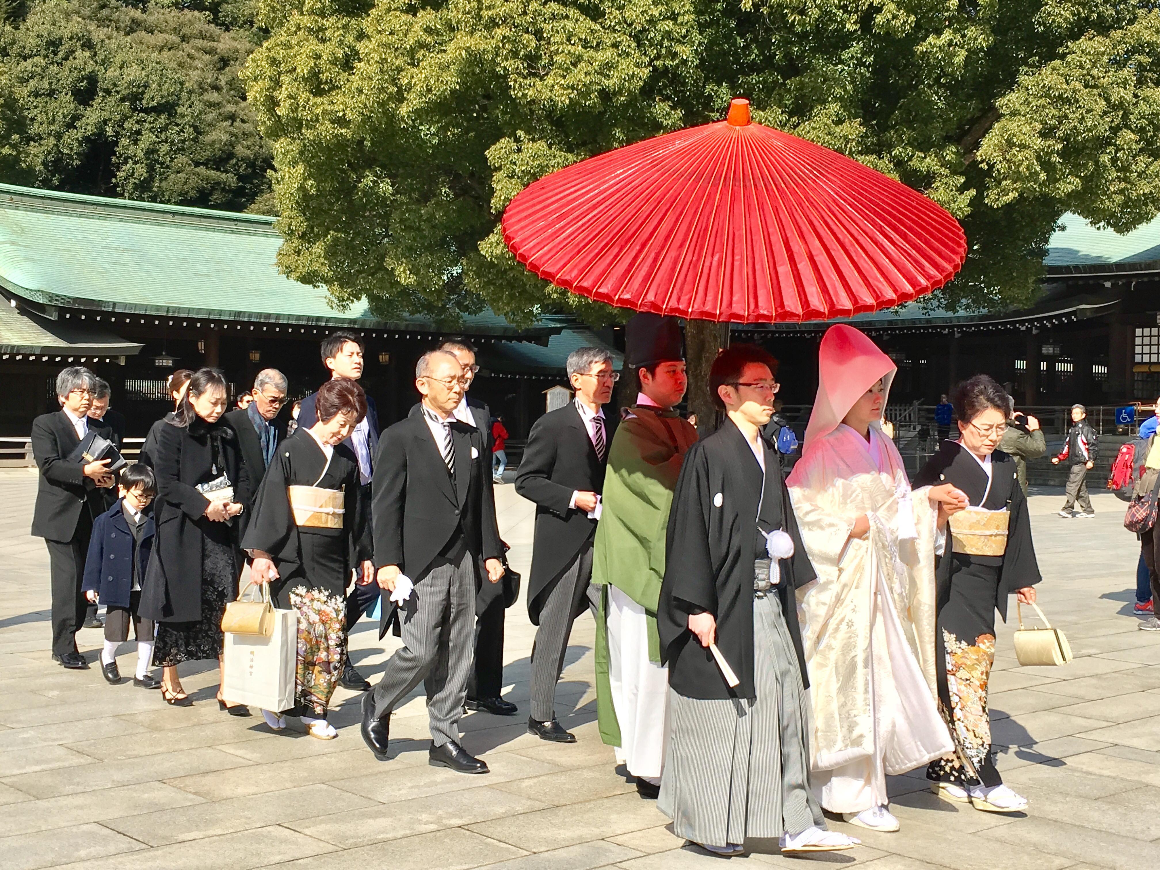 A weddindg at Shinto Dhrine