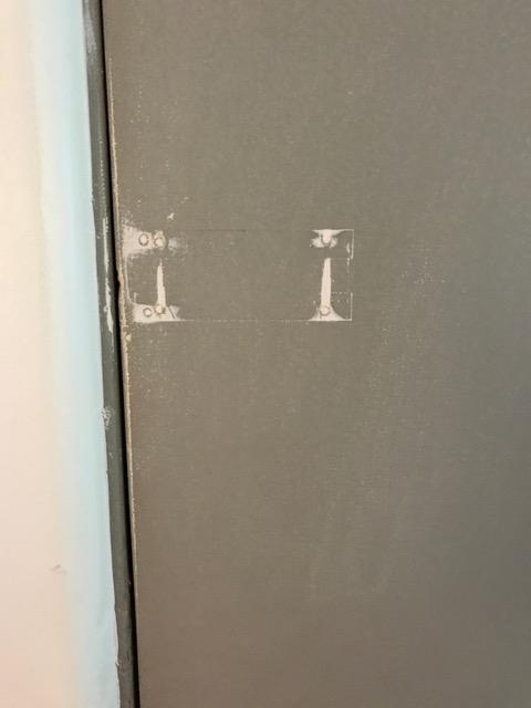 Lock Torn Off Door Without Paint