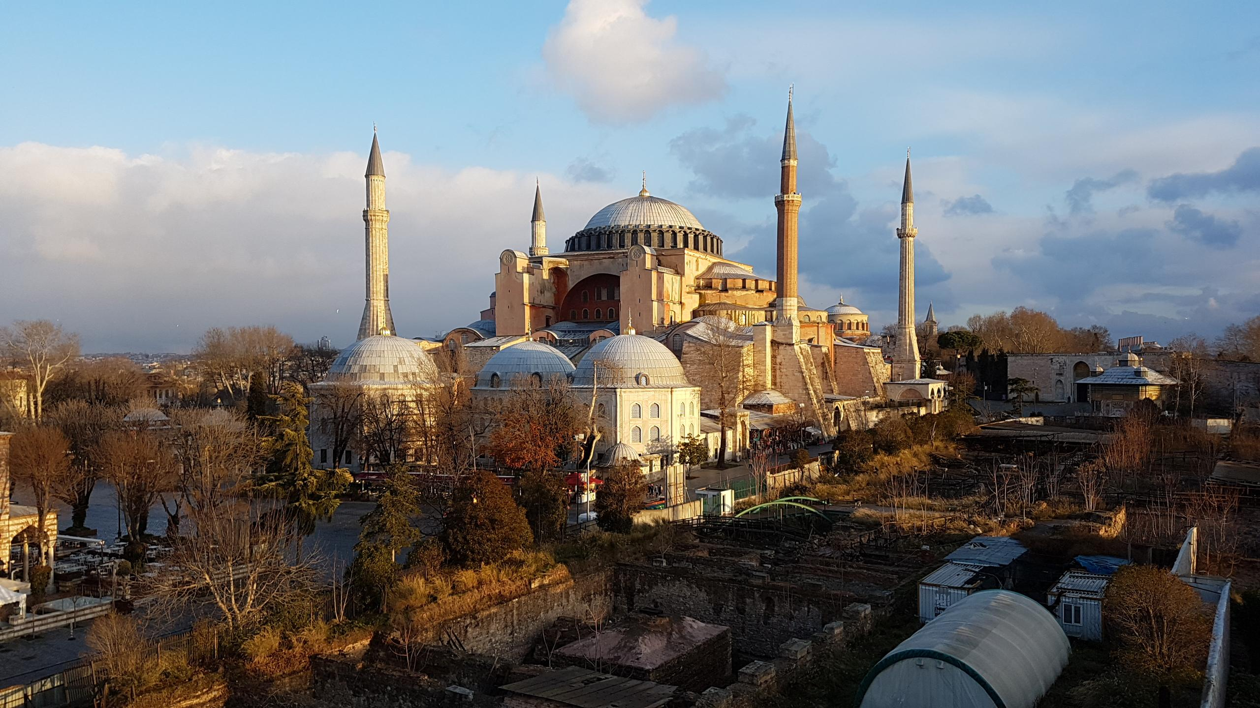 Blue Mosque - View from rooftop restaurant