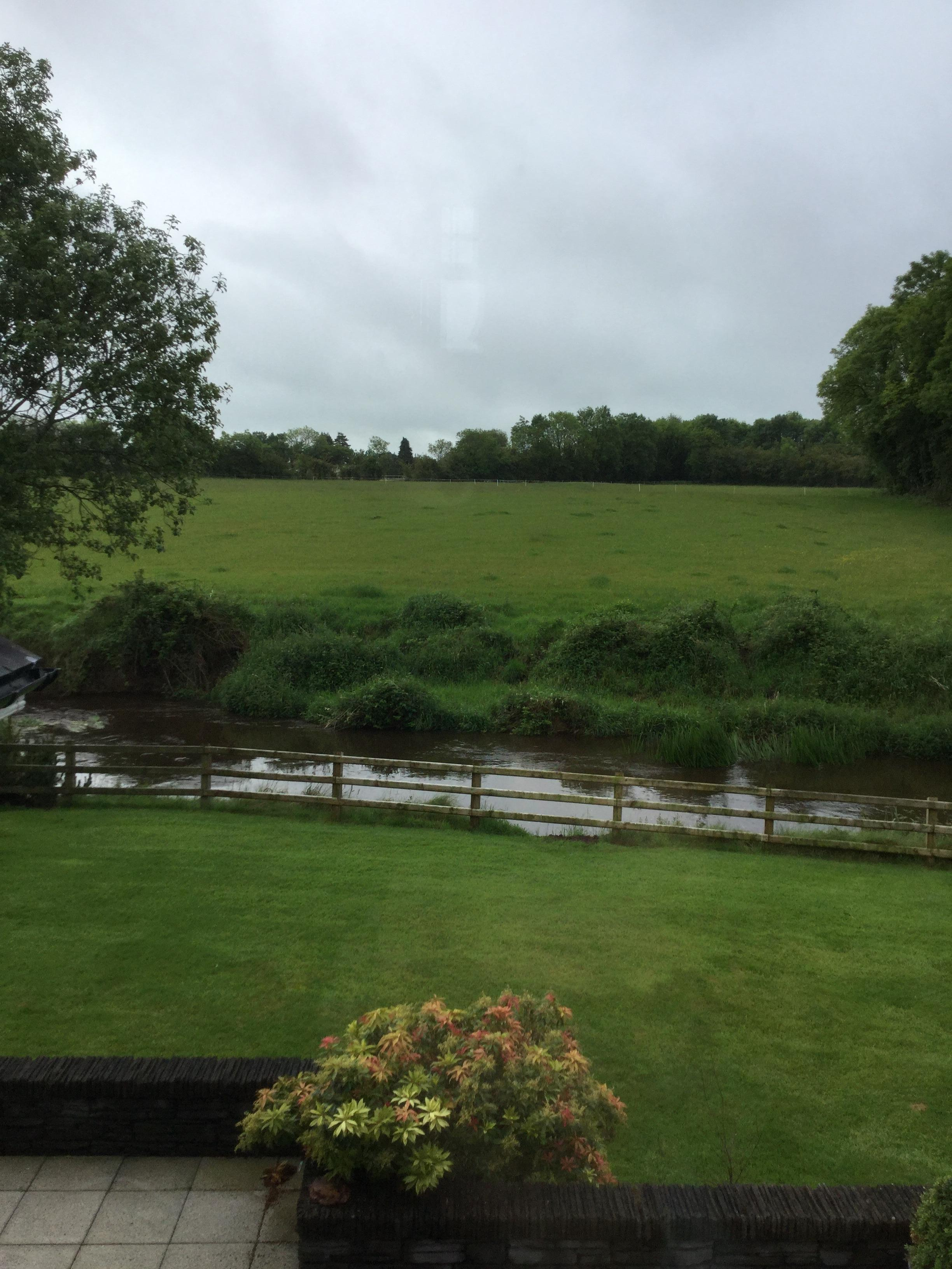 River and back garden