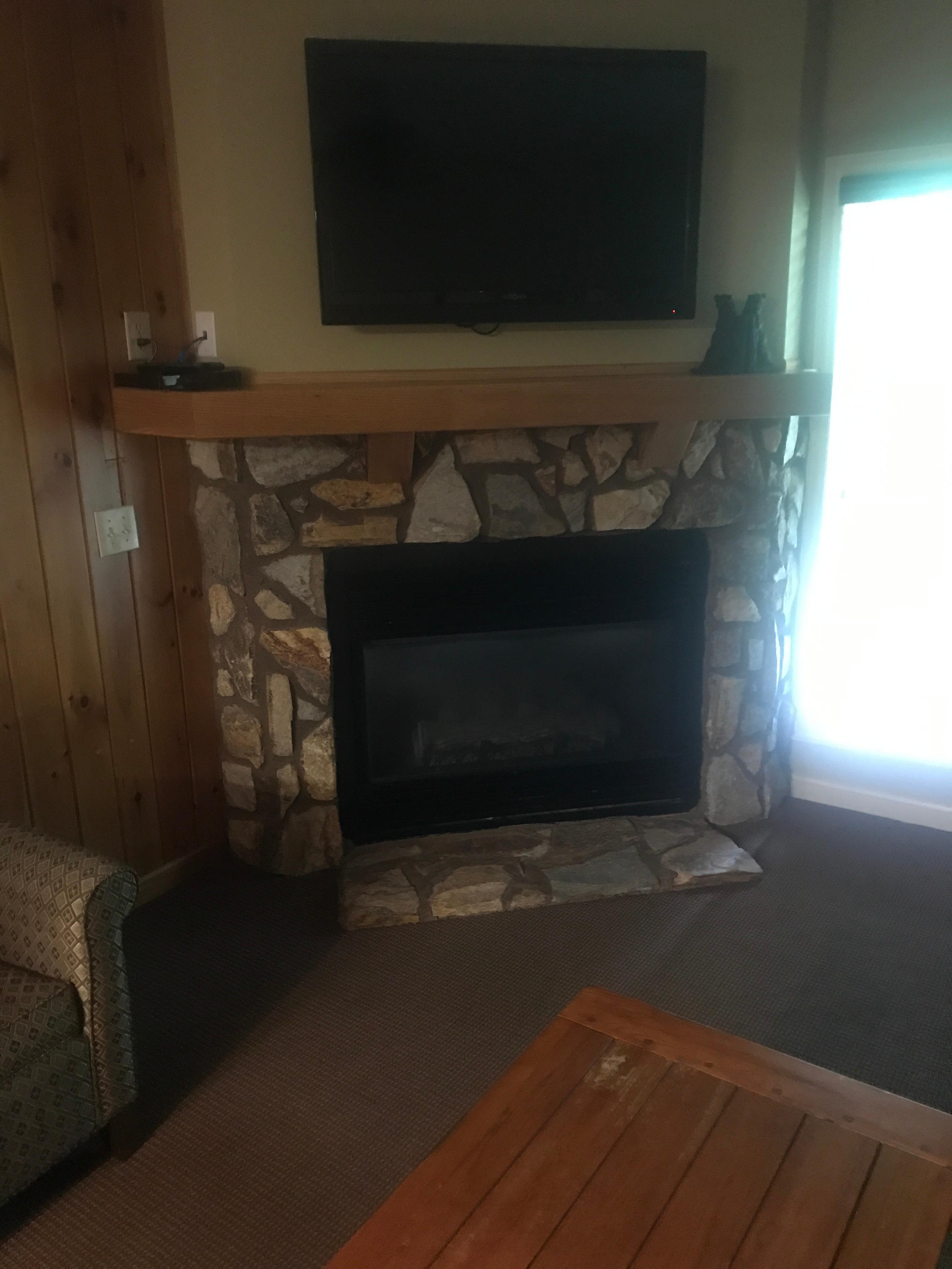 Nice fireplace!