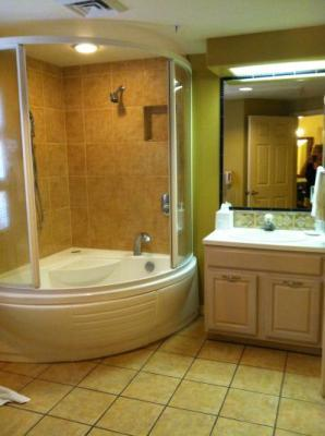 Our bathroom. Very spacious and nice Jacuzzi.