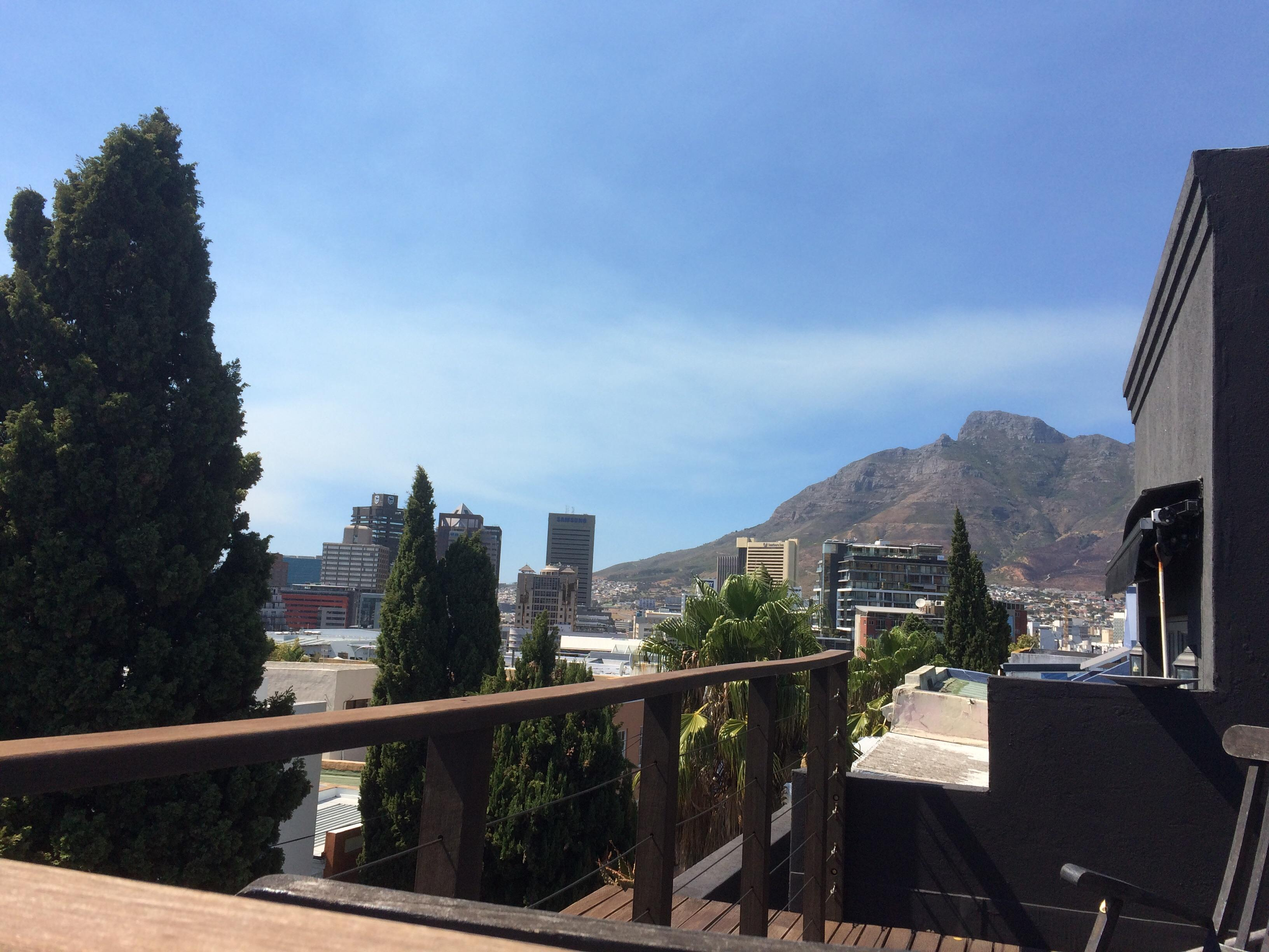 View of Table Mountain from terrace