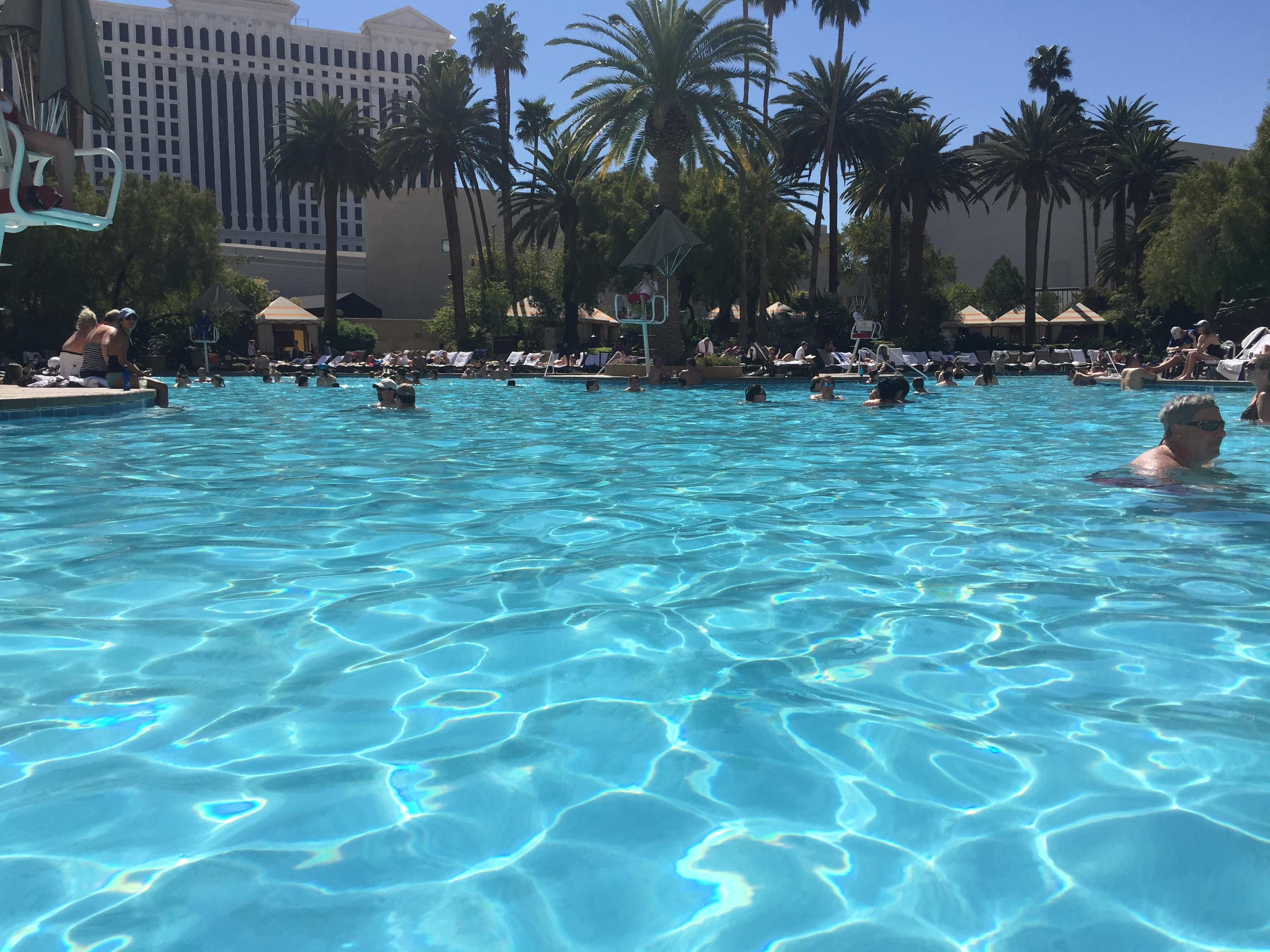 It was nice and sunny at the Mirage