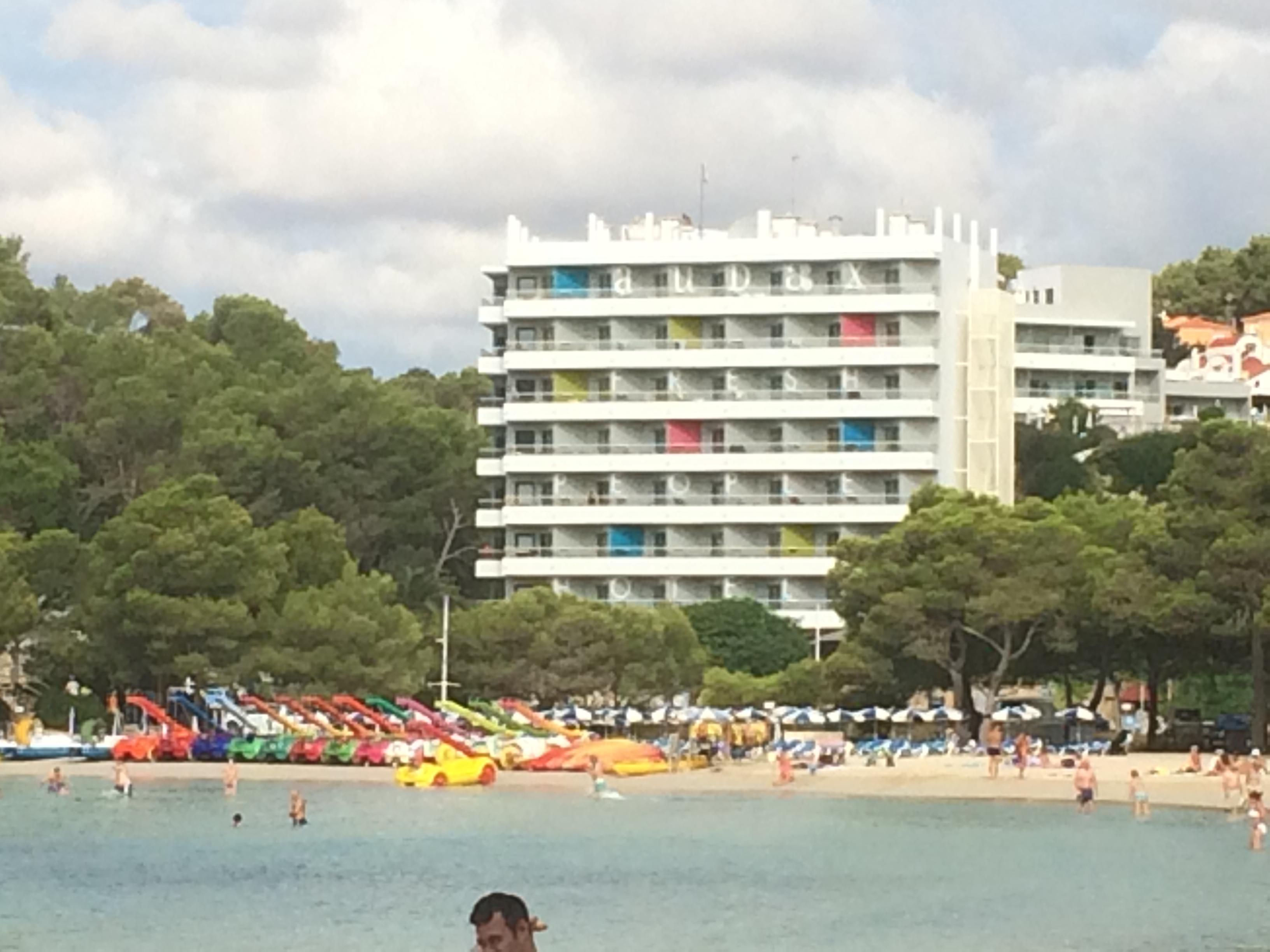 Hotel from beach