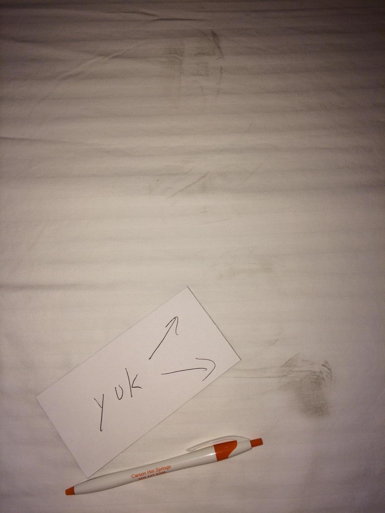 Boot prints on sheet