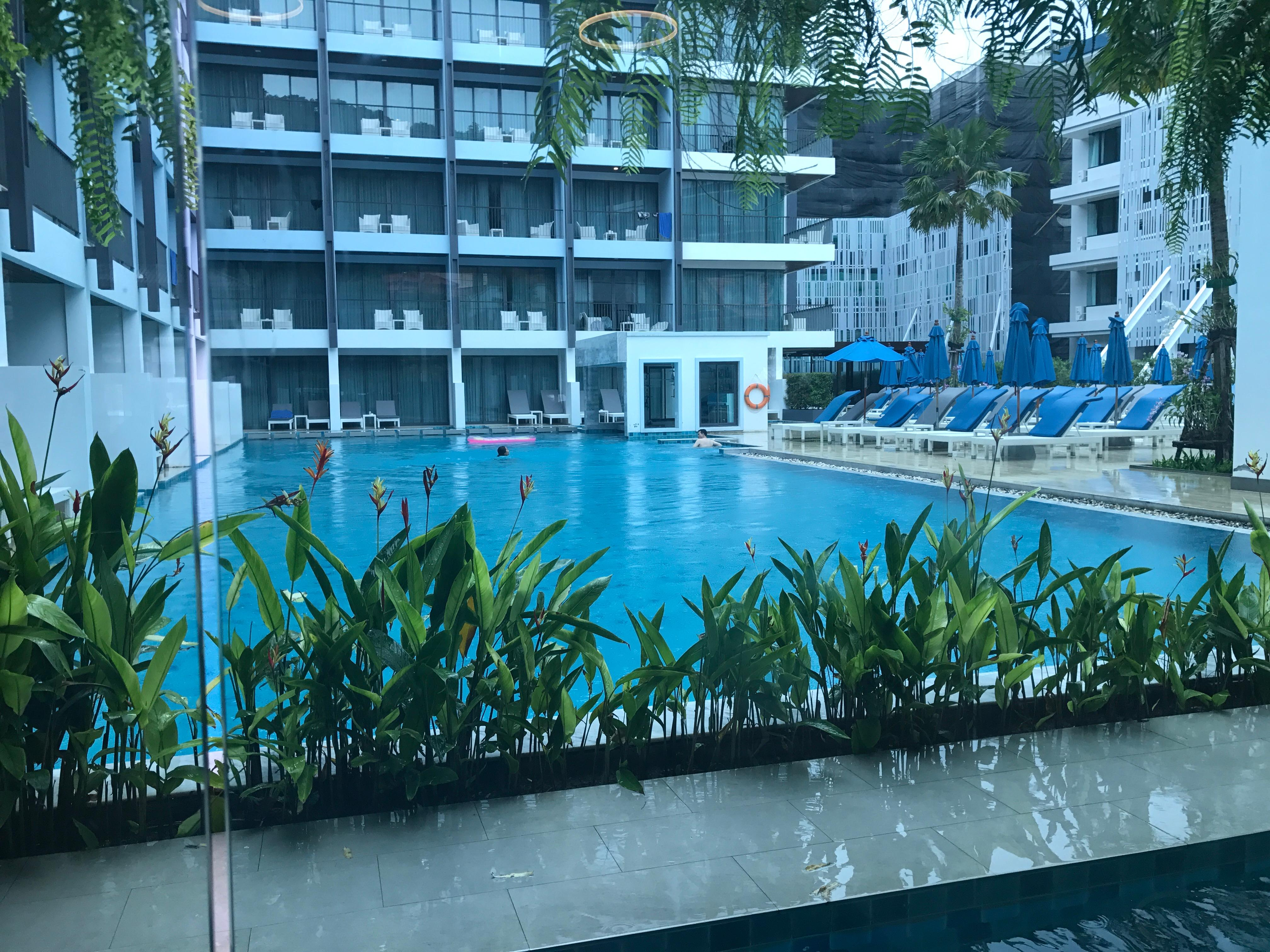 View of pool from breakfast