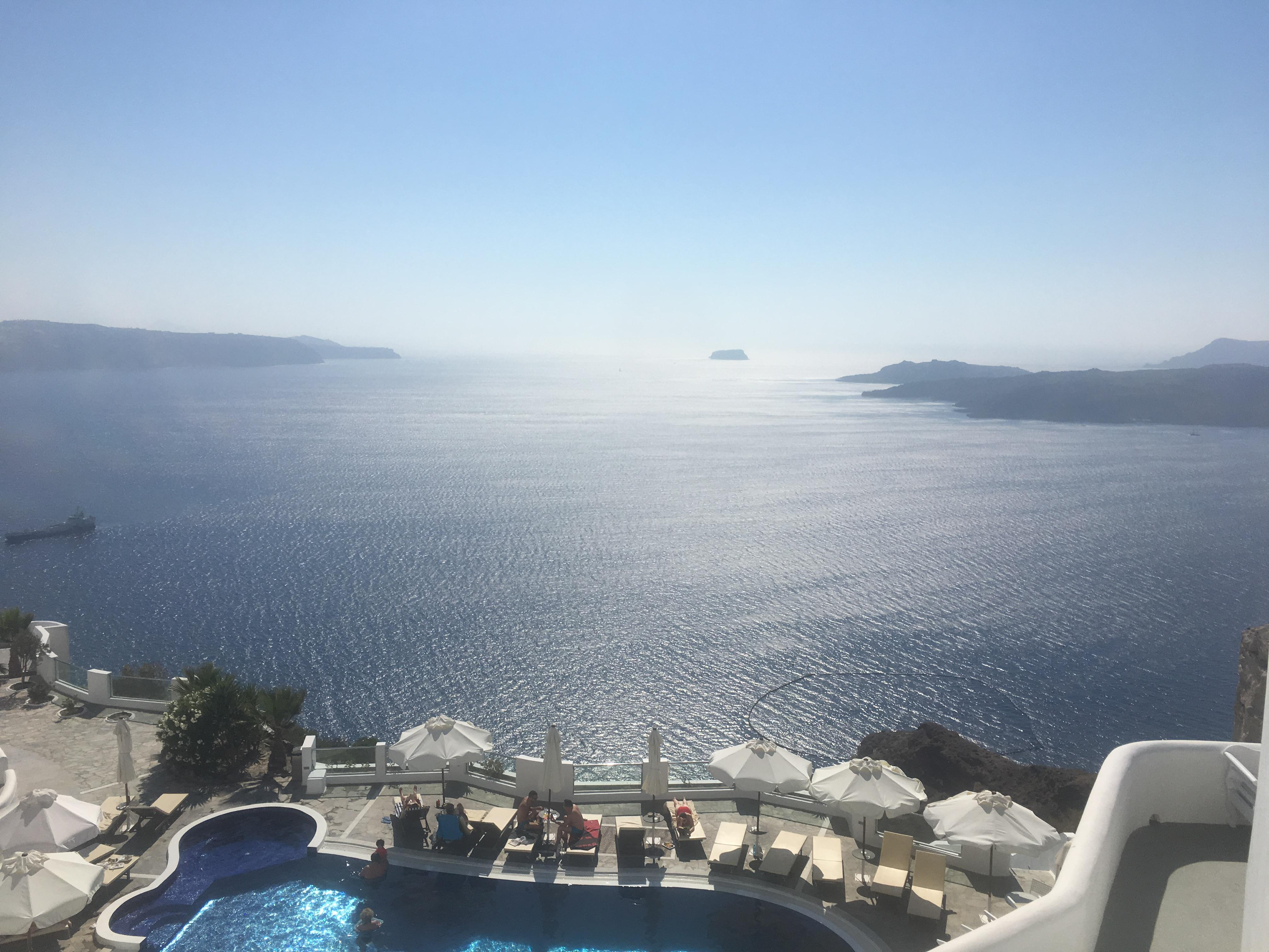 Hotel pool and view