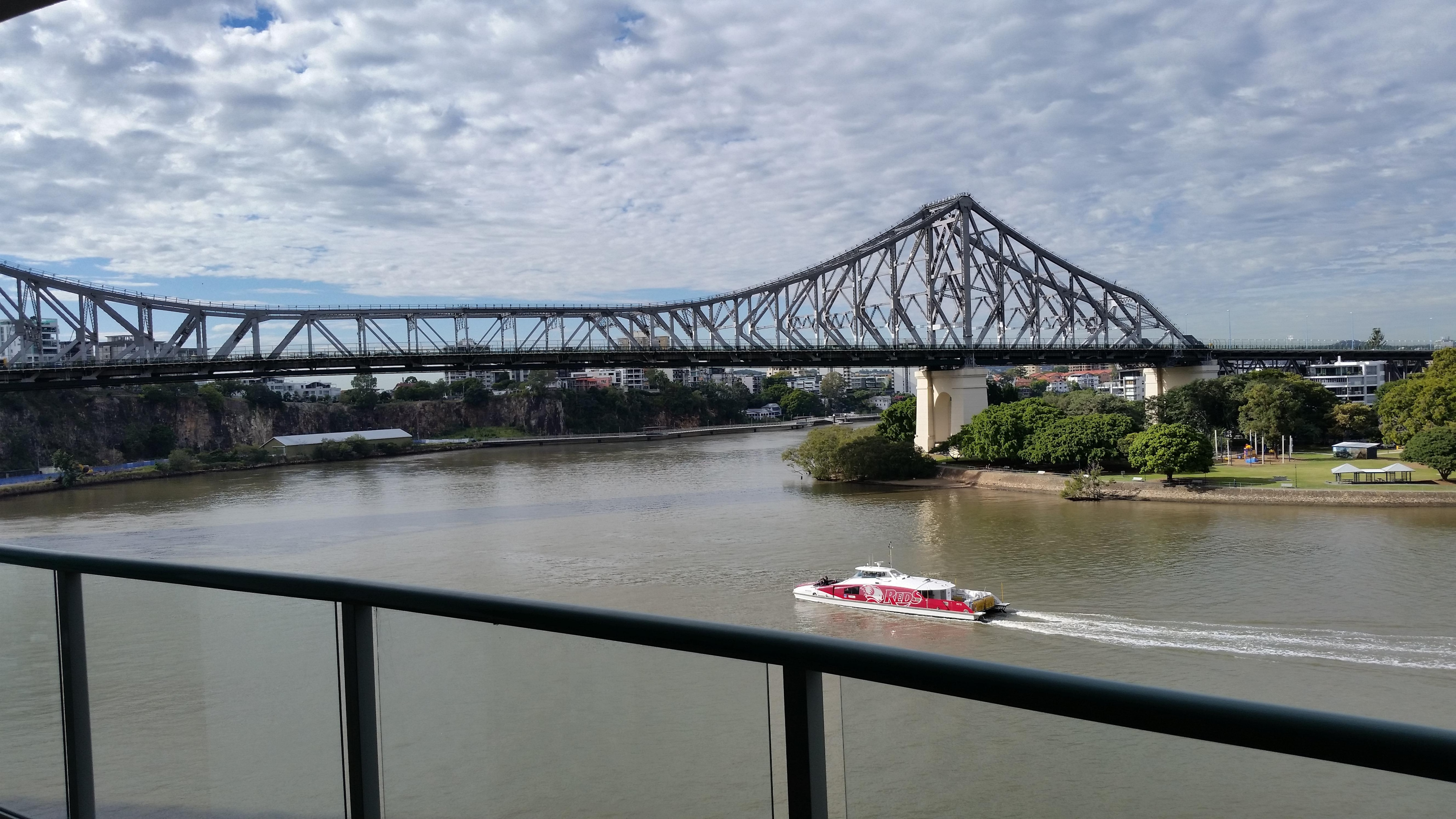 Story Bridge by day from our room